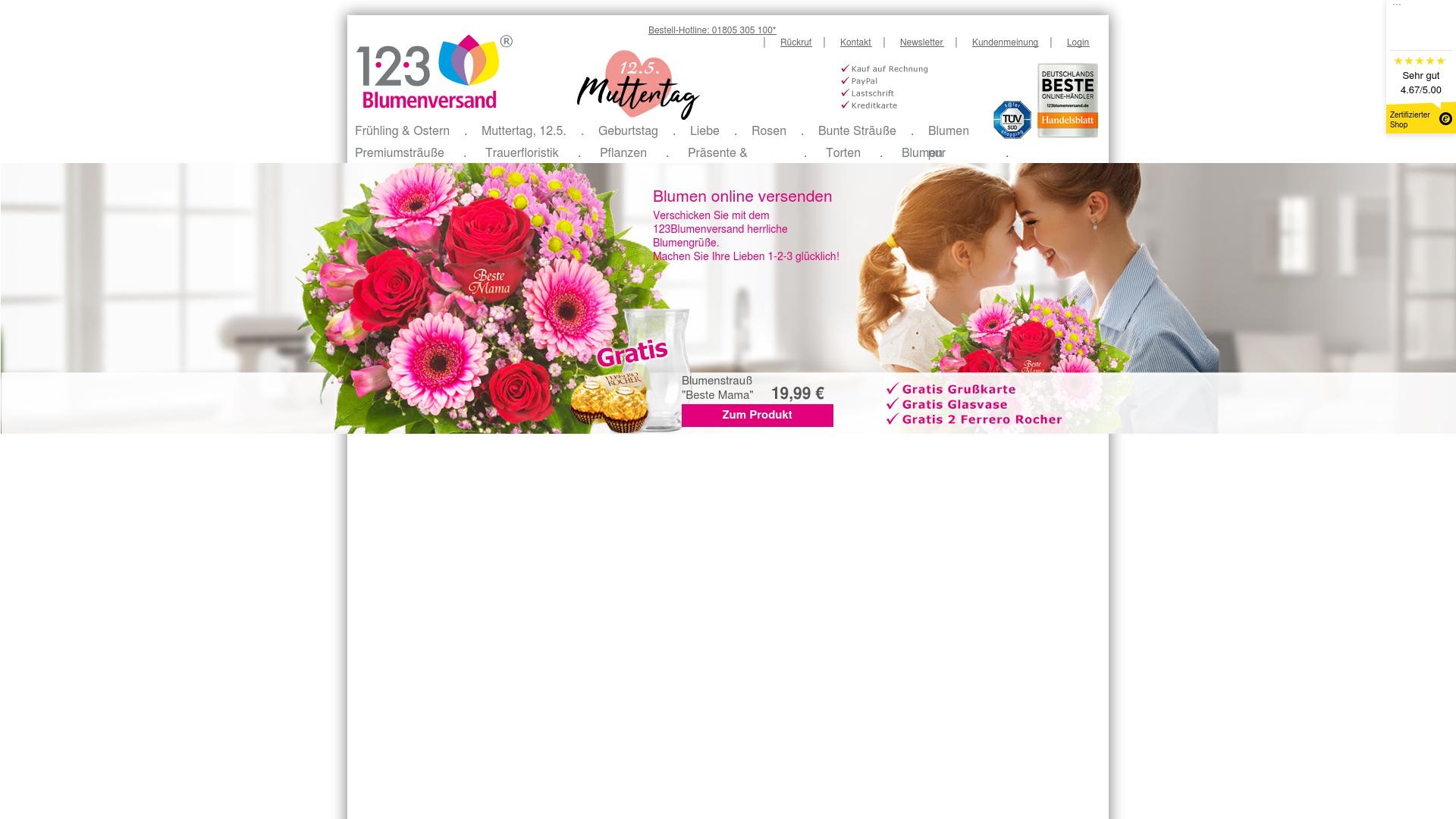 Gutschein für 123blumenversand: Rabatte für  123blumenversand sichern