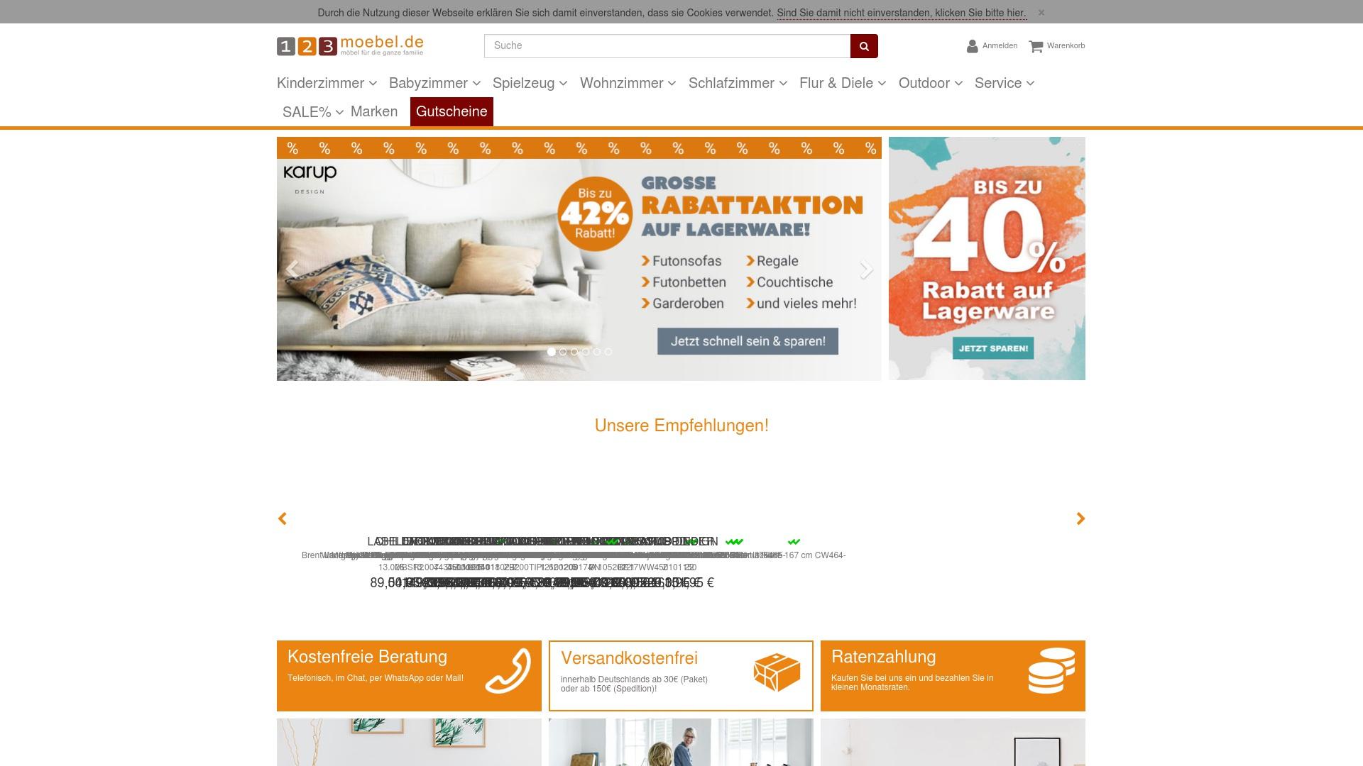 Gutschein für 123moebel: Rabatte für  123moebel sichern
