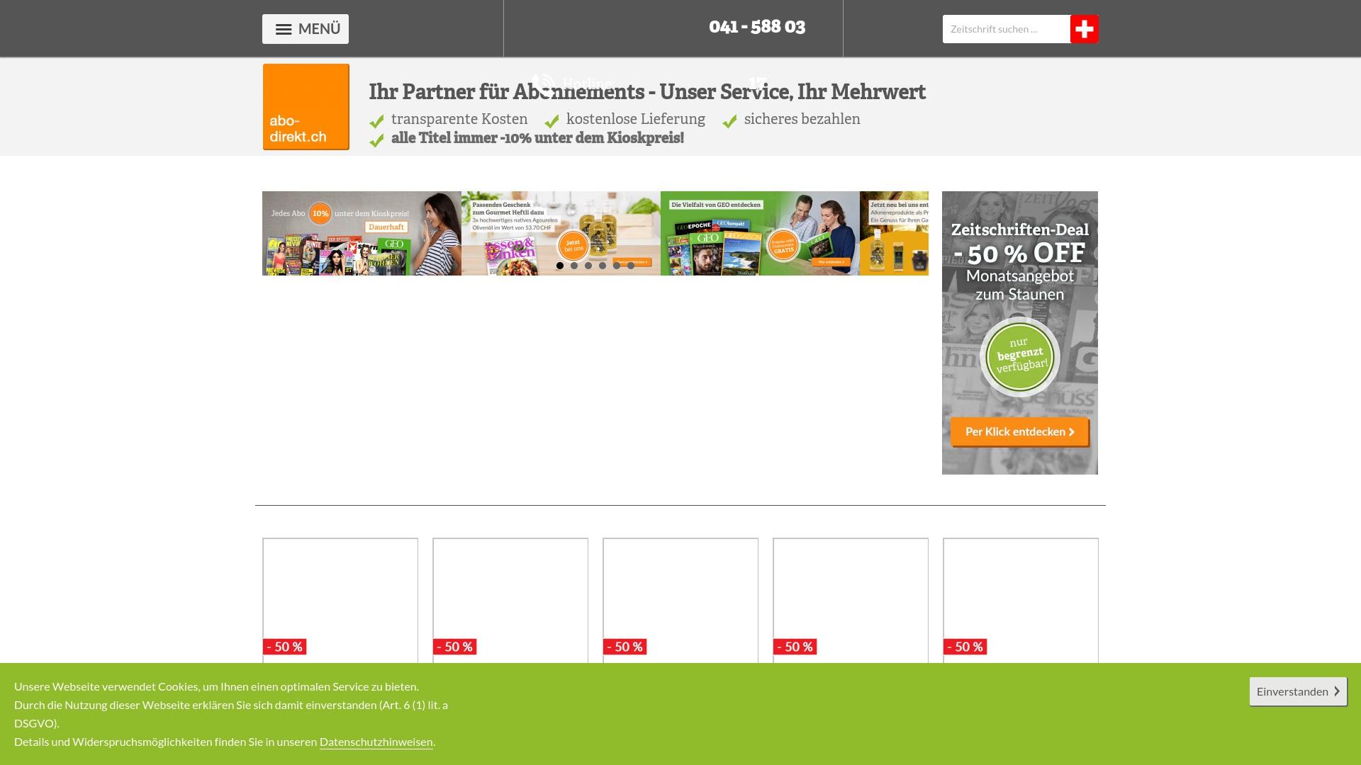 Gutschein für Abo-direkt: Rabatte für  Abo-direkt sichern