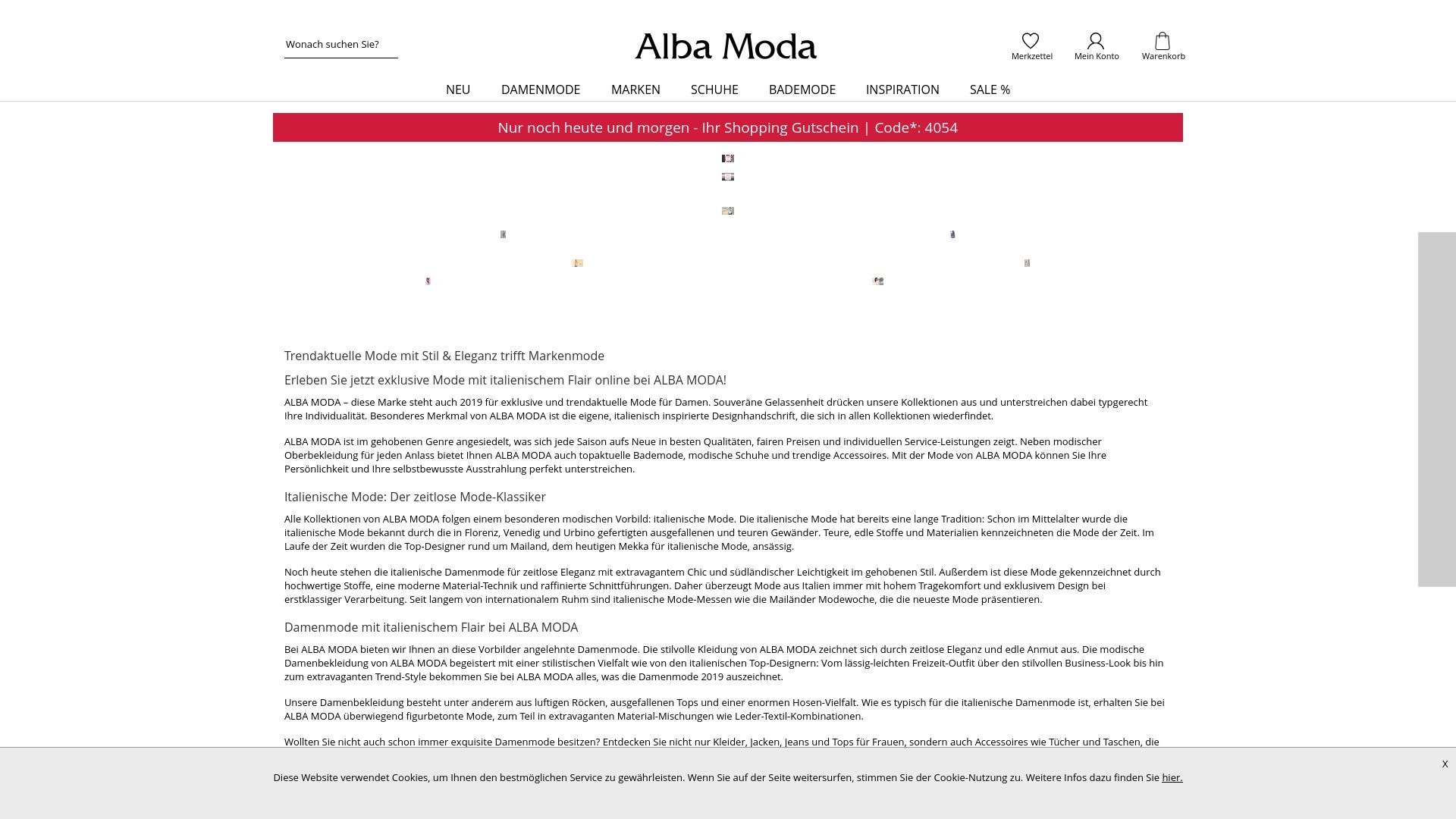 Gutschein für Albamoda: Rabatte für  Albamoda sichern