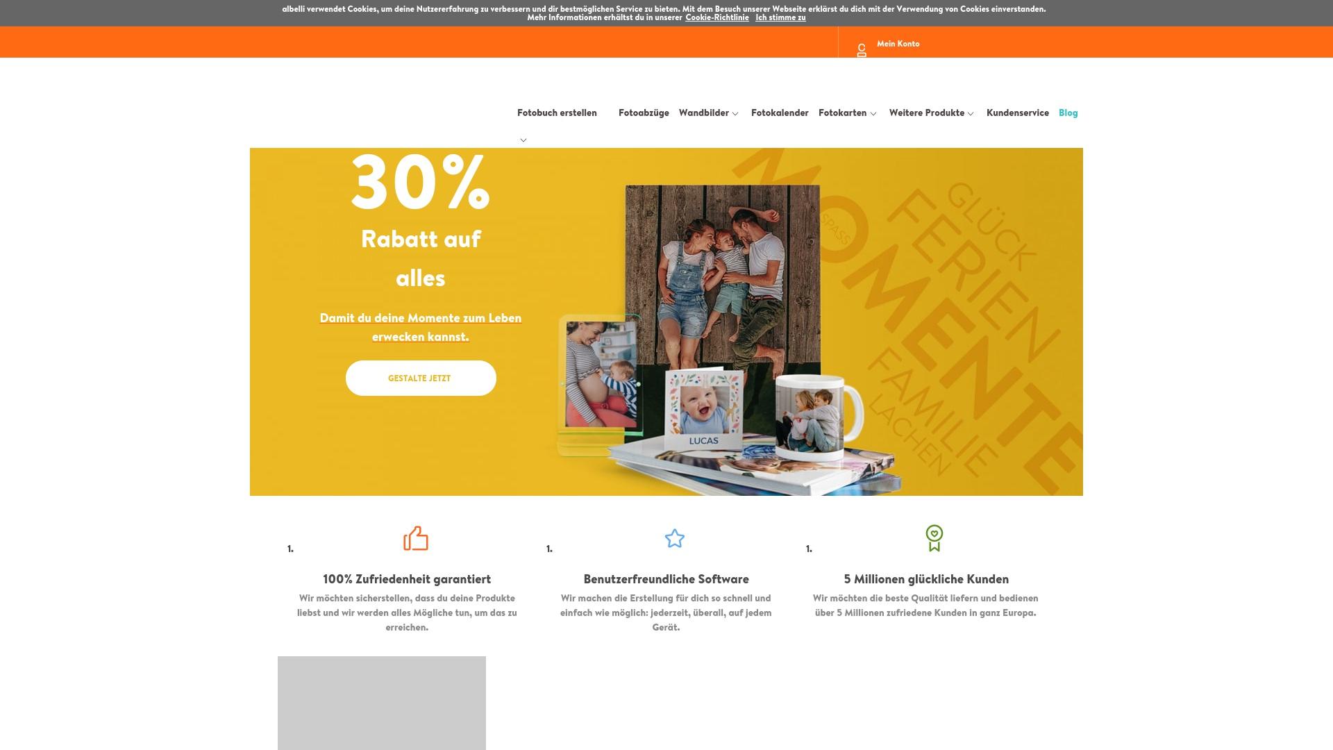 Gutschein für Albelli: Rabatte für  Albelli sichern