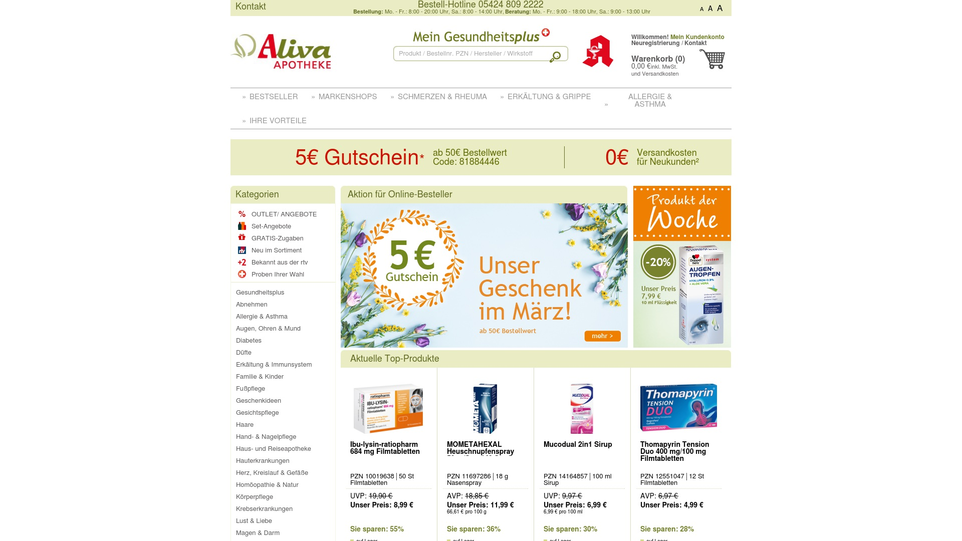 Gutschein für Aliva: Rabatte für  Aliva sichern