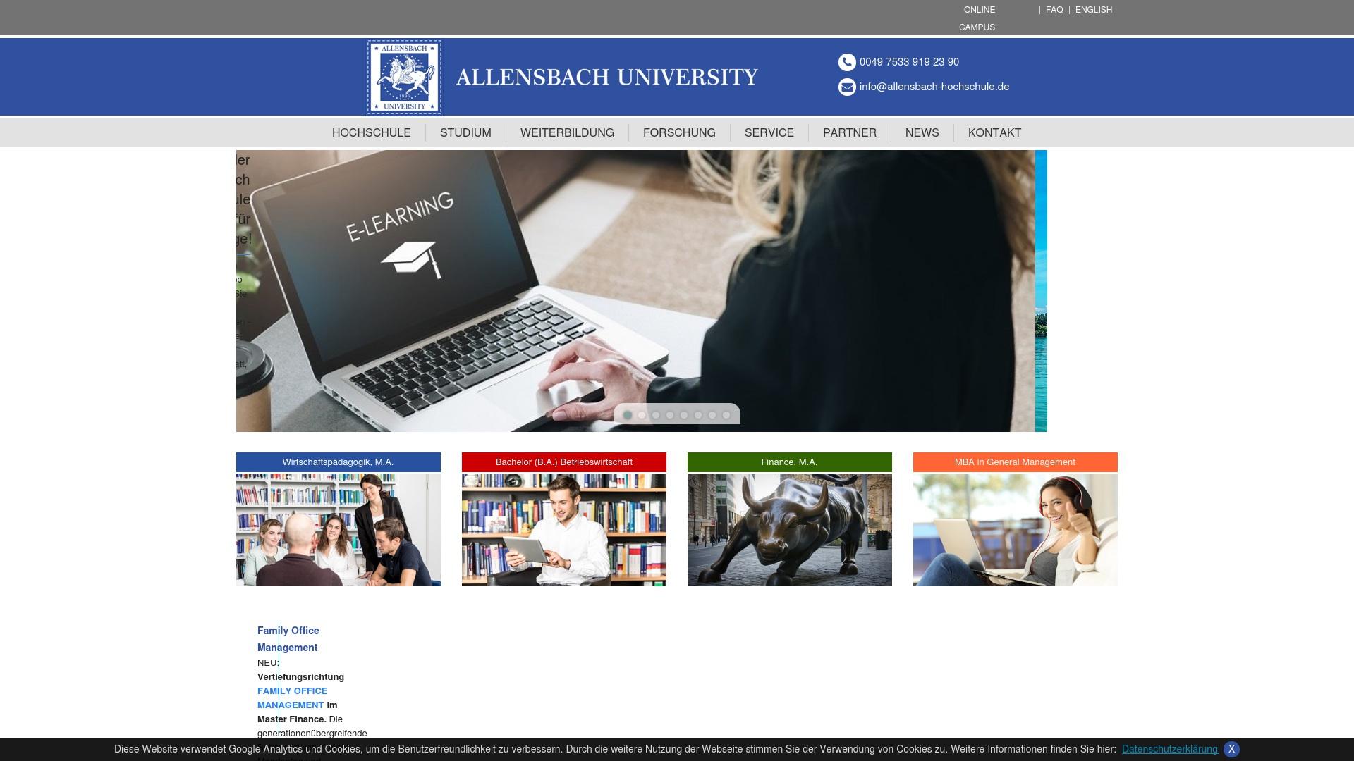 Gutschein für Allensbach-hochschule: Rabatte für  Allensbach-hochschule sichern