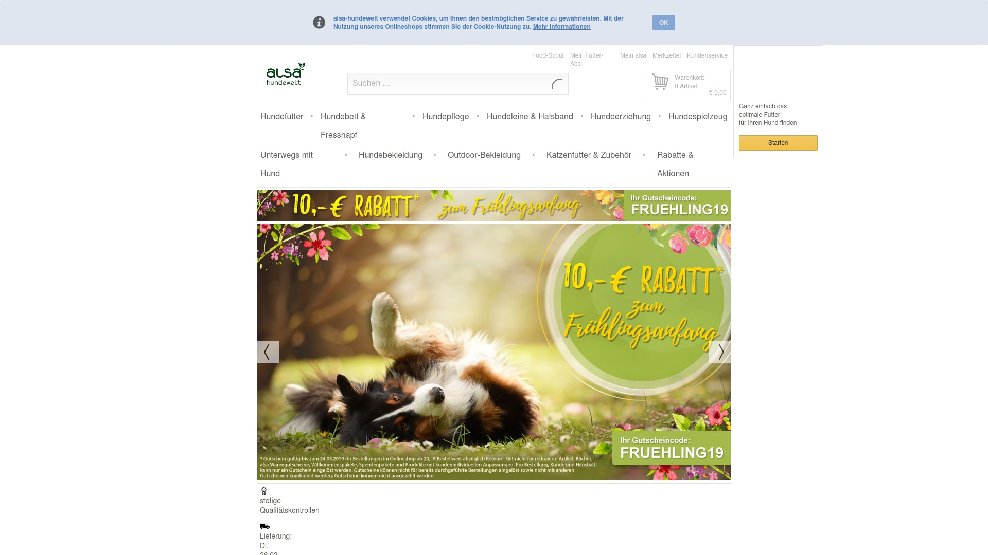 Gutschein für Alsa-hundewelt: Rabatte für  Alsa-hundewelt sichern