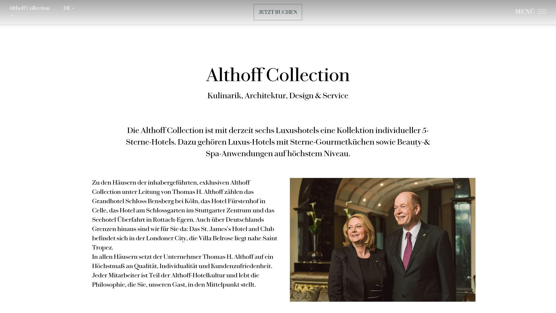 Gutschein für Althoffhotels: Rabatte für  Althoffhotels sichern