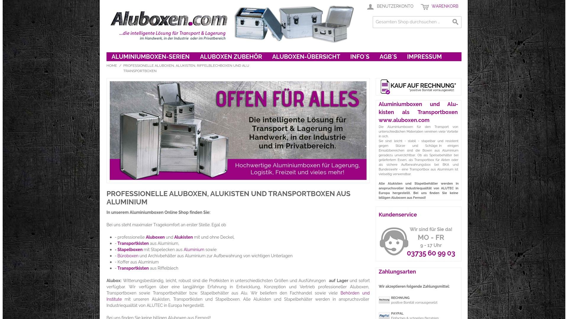 Gutschein für Aluboxen: Rabatte für  Aluboxen sichern