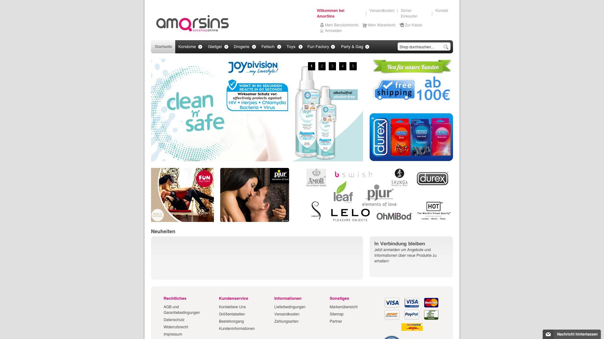 Gutschein für Amorsins: Rabatte für  Amorsins sichern