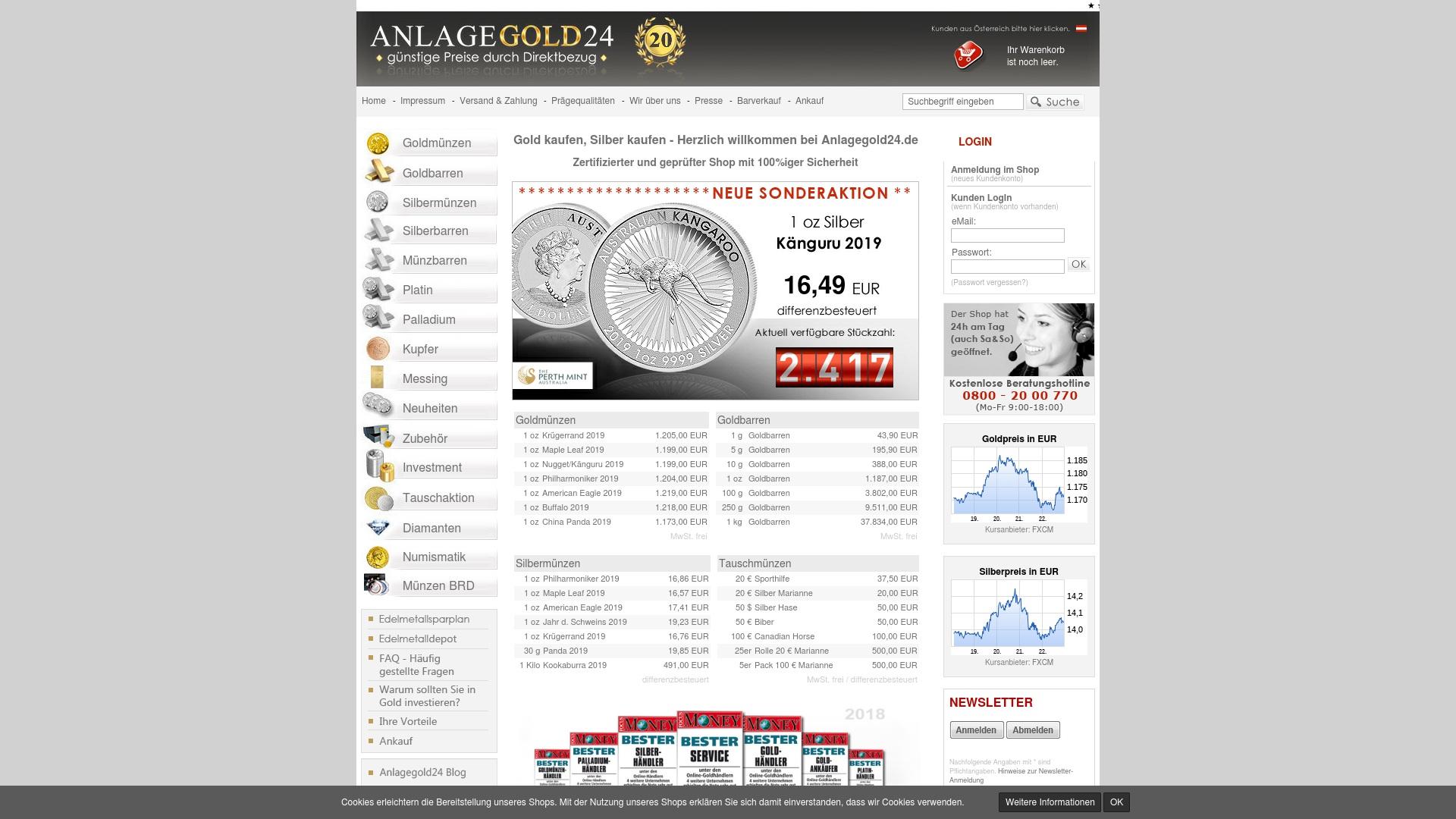Gutschein für Anlagegold24: Rabatte für  Anlagegold24 sichern