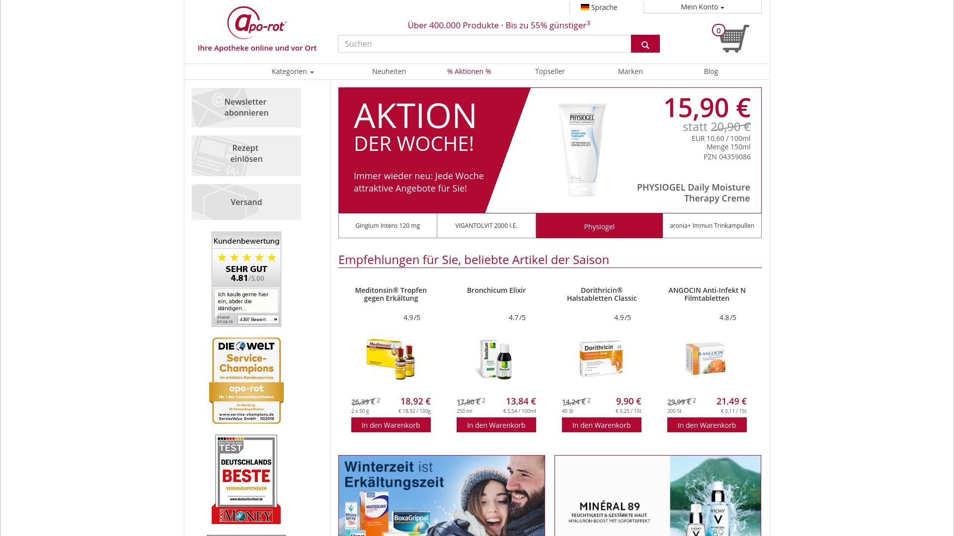 Gutschein für Apo-rot: Rabatte für  Apo-rot sichern