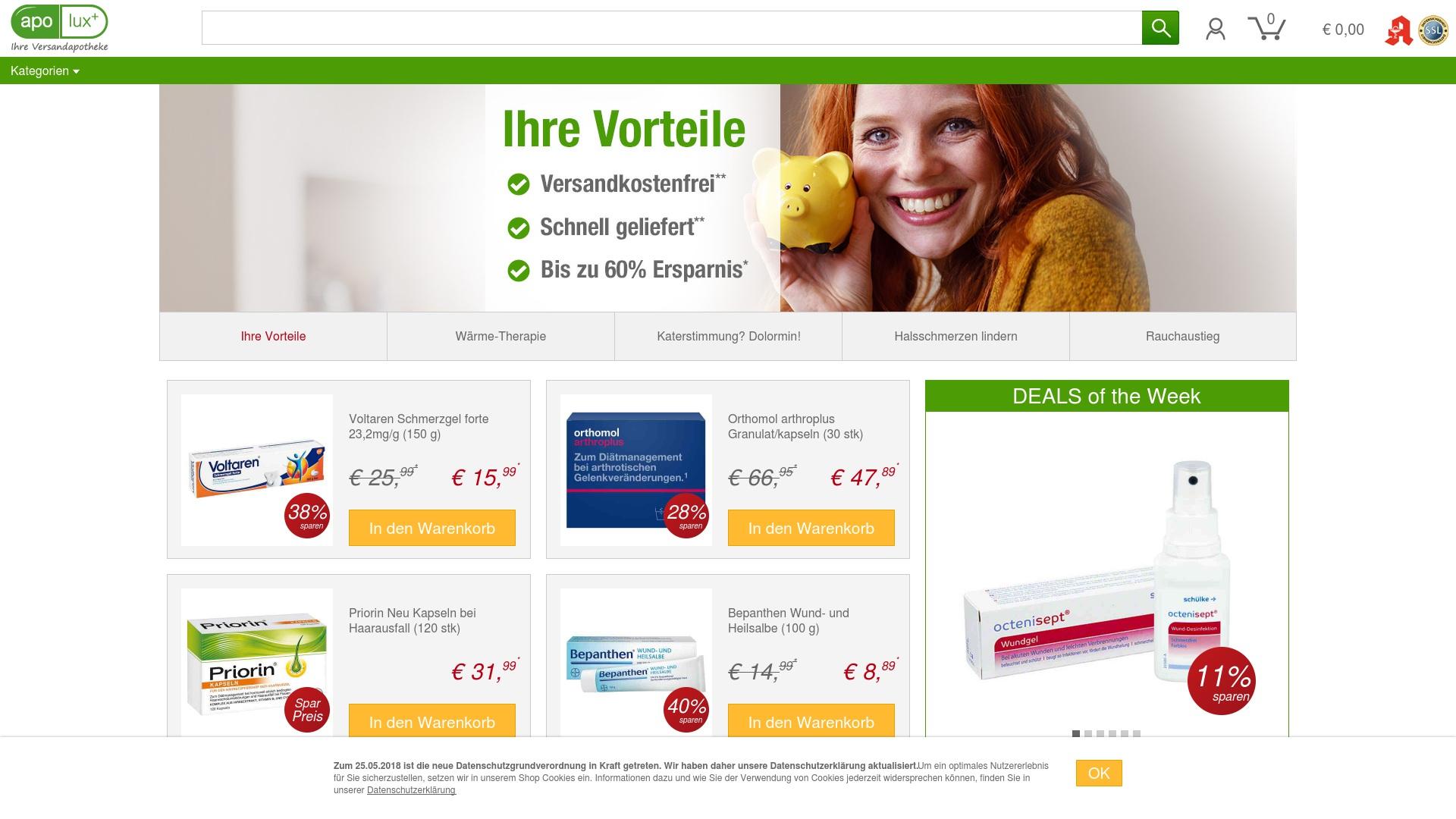 Gutschein für Apolux: Rabatte für  Apolux sichern