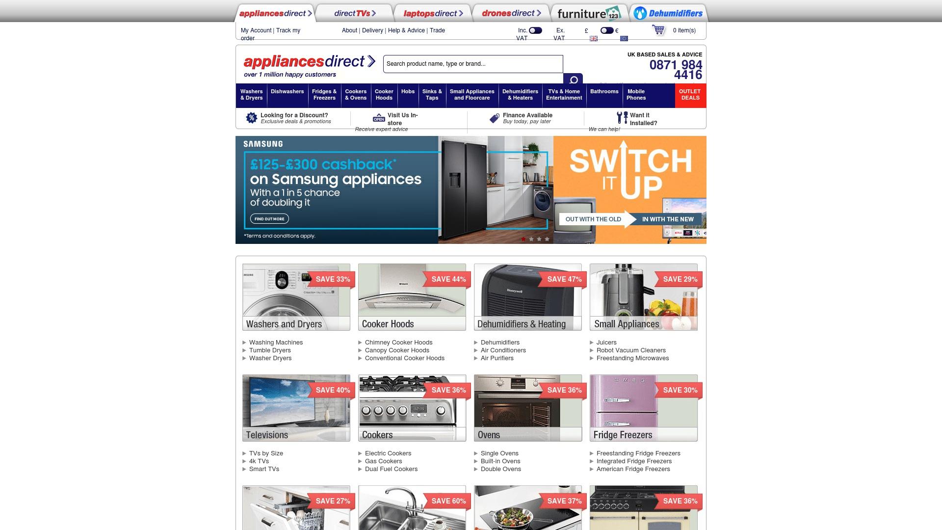 Gutschein für Appliancesdirect: Rabatte für  Appliancesdirect sichern