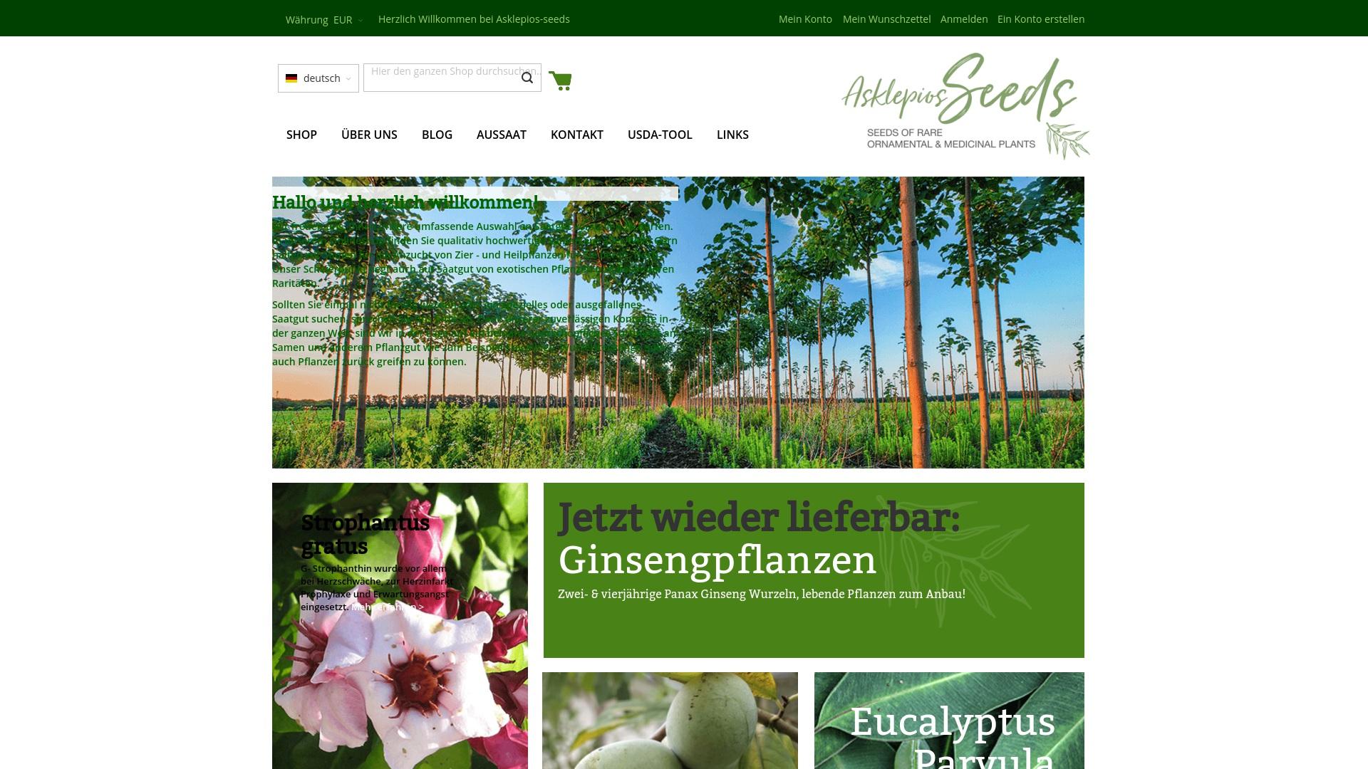 Gutschein für Asklepios-seeds: Rabatte für  Asklepios-seeds sichern