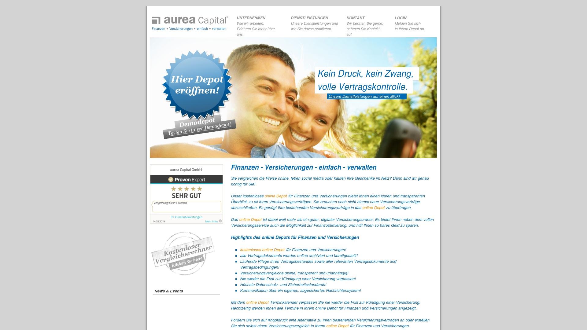 Gutschein für Aurea-capital: Rabatte für  Aurea-capital sichern