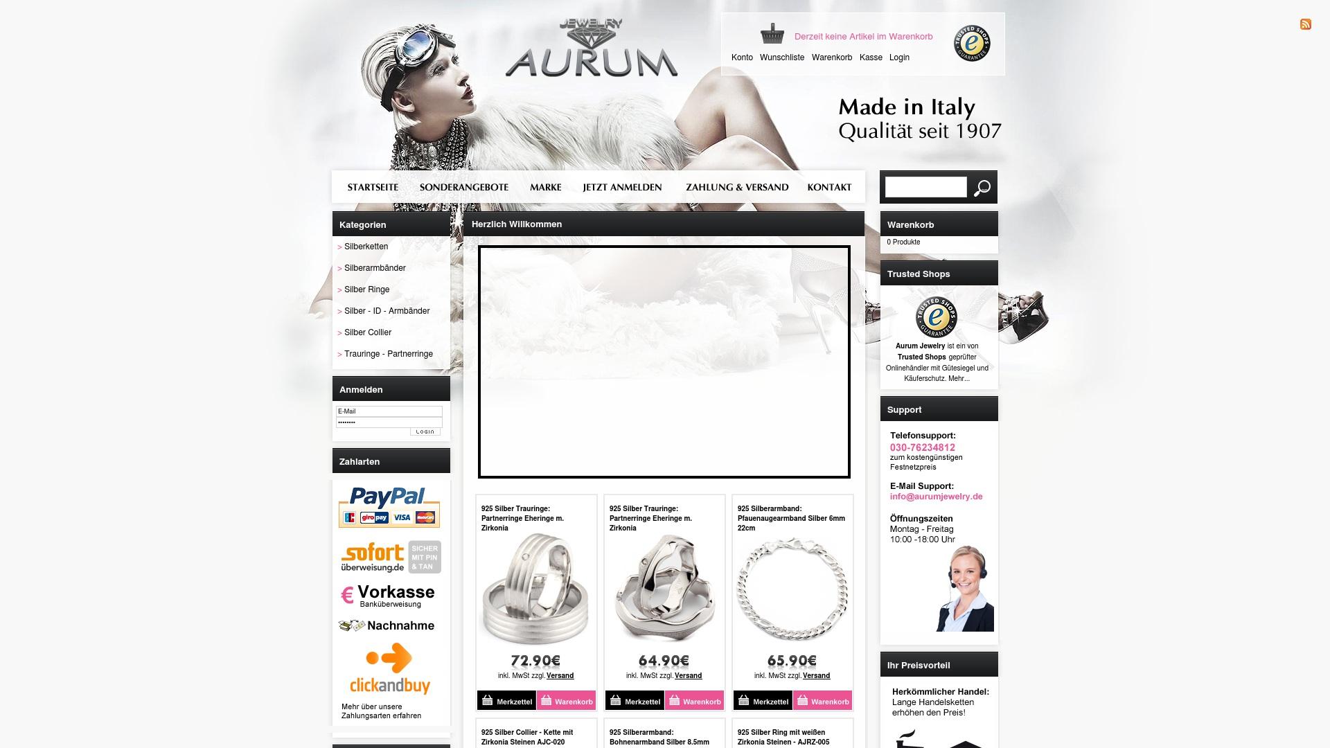 Gutschein für Aurumjewelry: Rabatte für  Aurumjewelry sichern