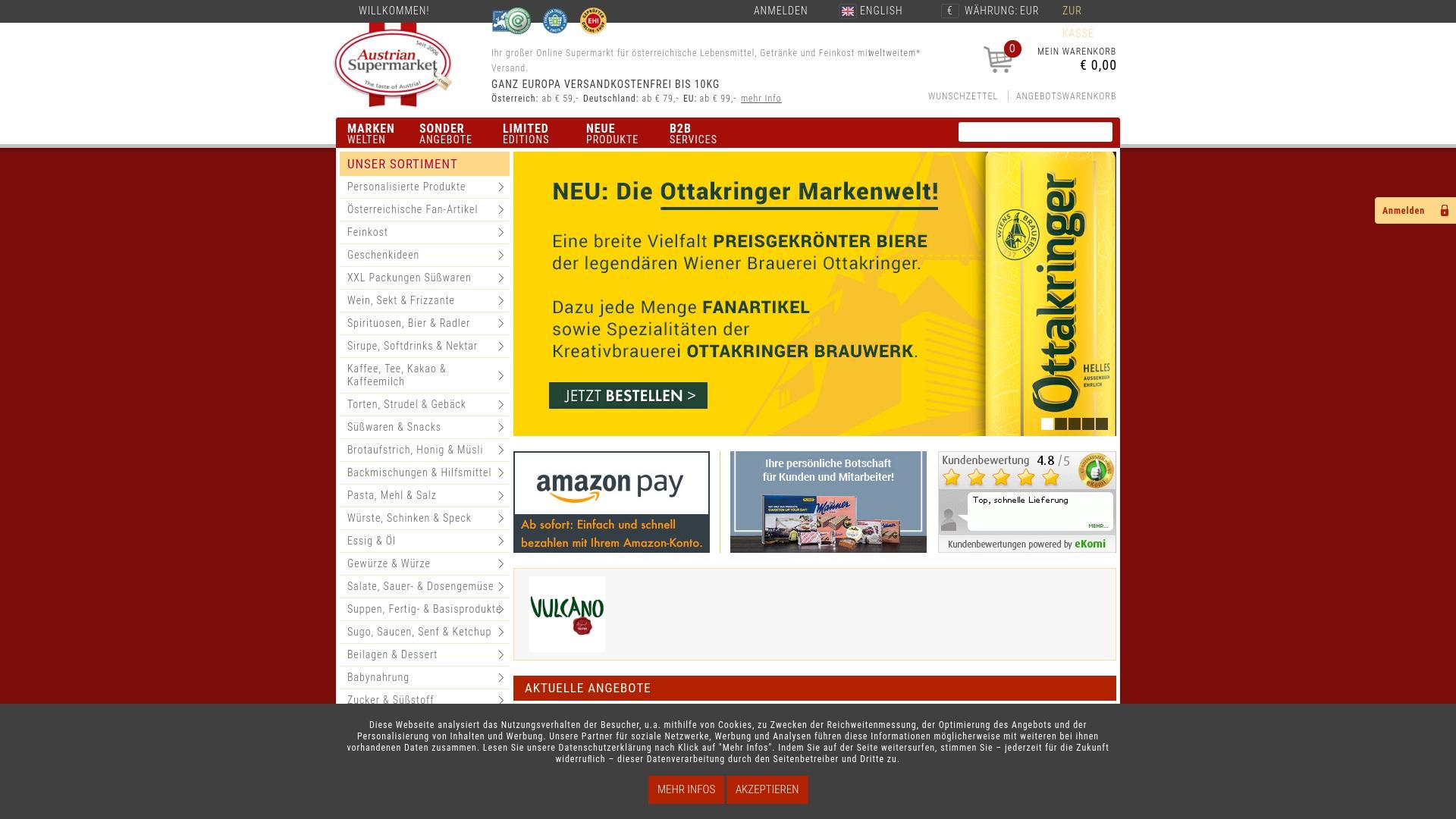 Gutschein für Austriansupermarket: Rabatte für  Austriansupermarket sichern