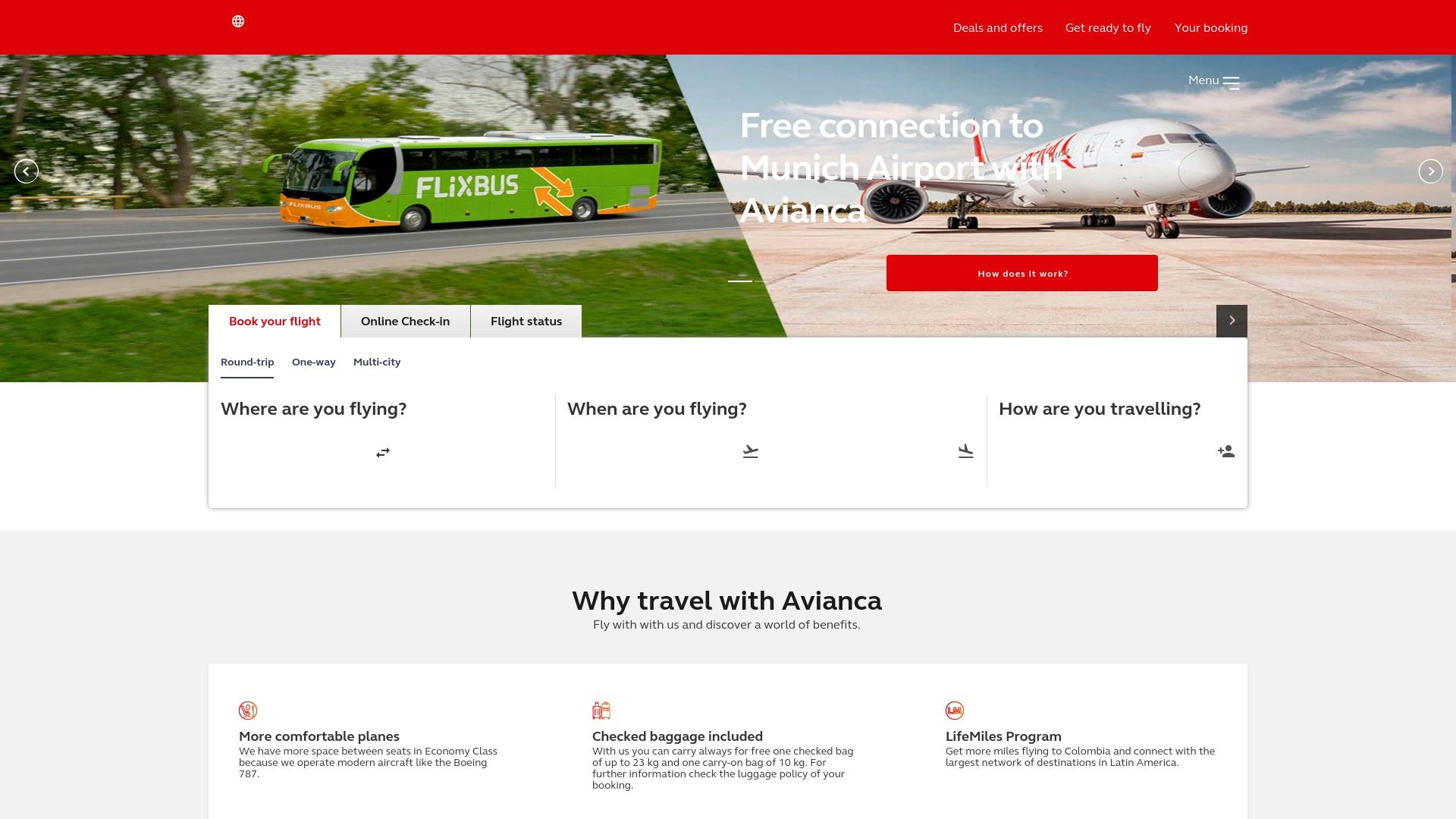 Gutschein für Avianca: Rabatte für  Avianca sichern