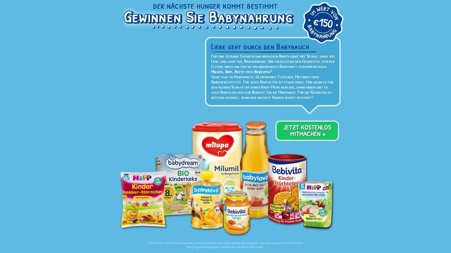 Gutschein für Babynahrung-gratis: Rabatte für  Babynahrung-gratis sichern