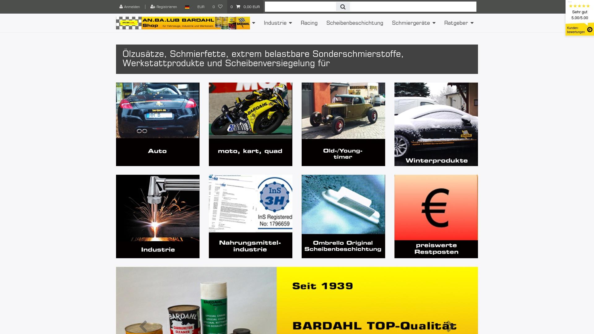 Gutschein für Bardahlgermany: Rabatte für  Bardahlgermany sichern