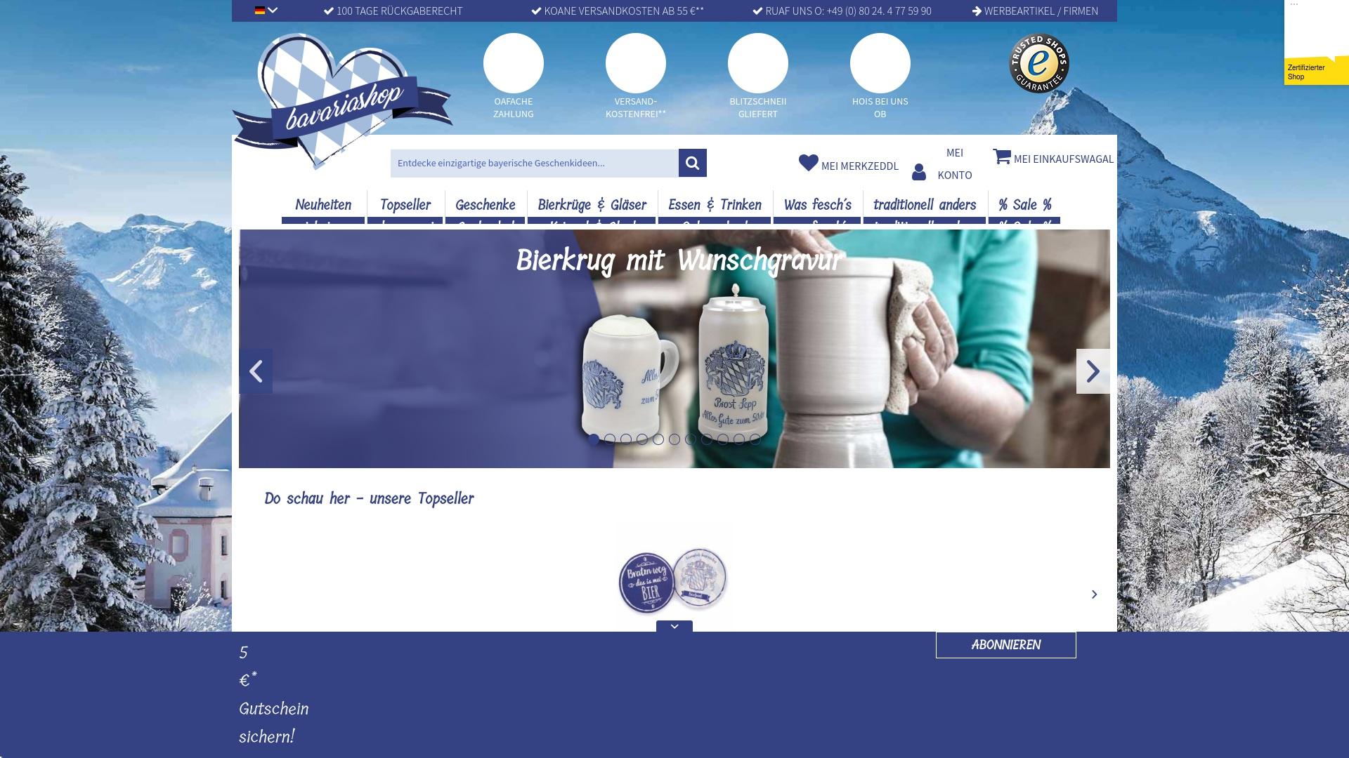 Gutschein für Bavariashop: Rabatte für  Bavariashop sichern
