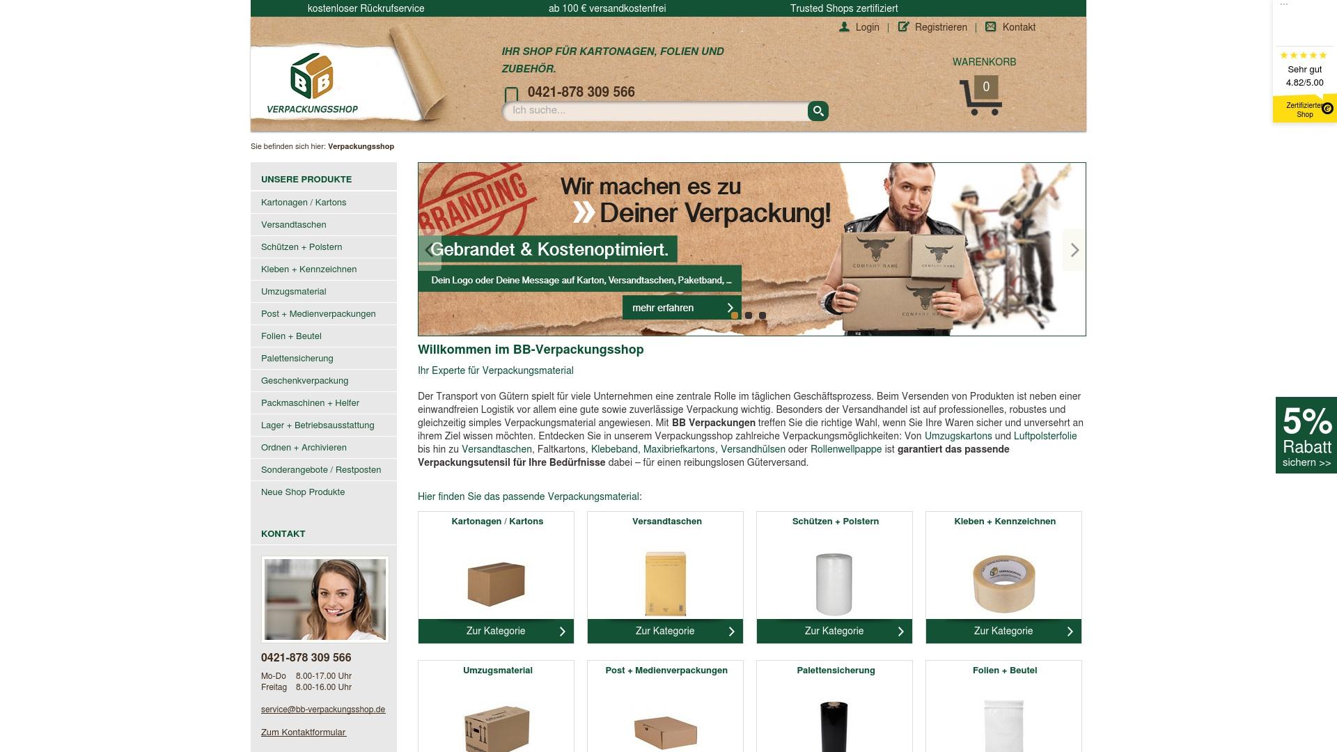 Gutschein für Bb-verpackungsshop: Rabatte für  Bb-verpackungsshop sichern
