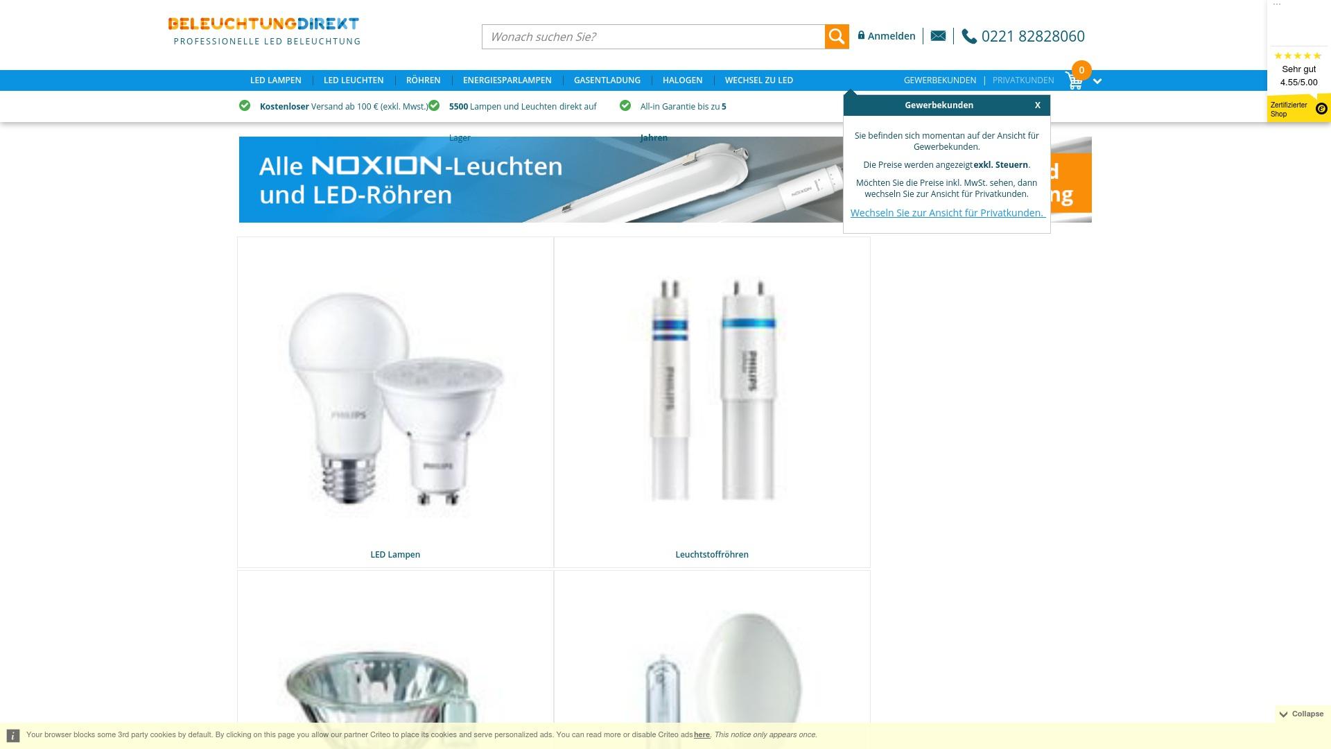 Gutschein für Beleuchtungdirekt: Rabatte für  Beleuchtungdirekt sichern