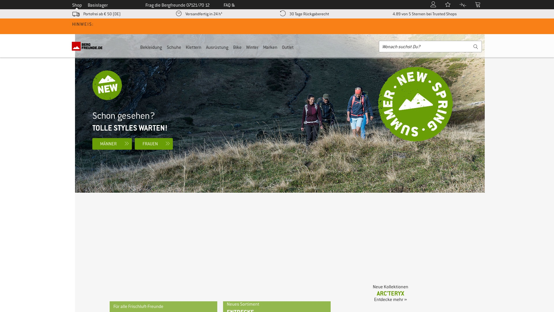 Gutschein für Bergfreunde: Rabatte für  Bergfreunde sichern