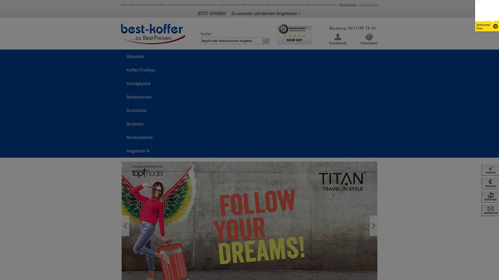Gutschein für Best-koffer: Rabatte für  Best-koffer sichern