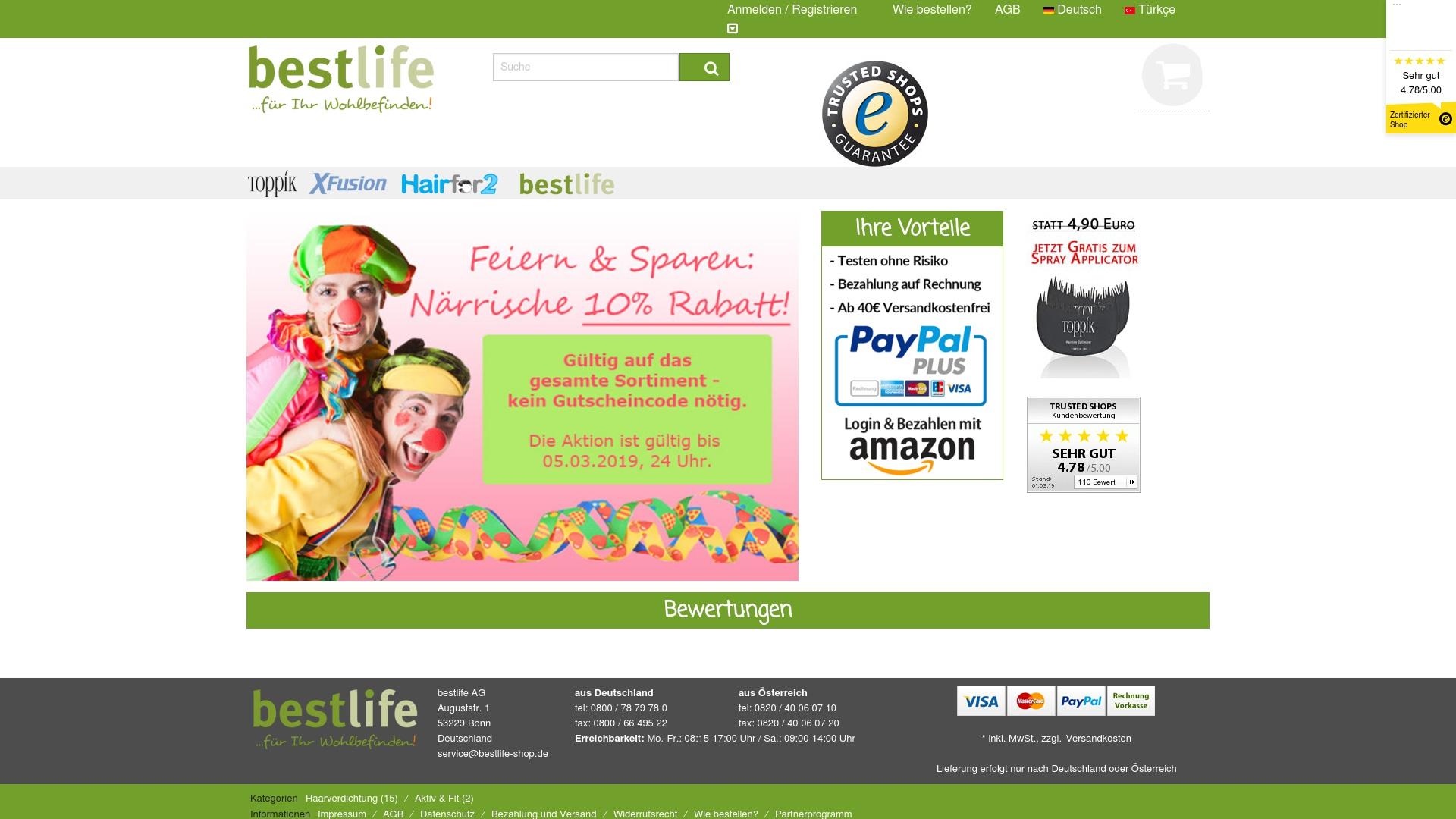 Gutschein für Bestlife-shop: Rabatte für  Bestlife-shop sichern
