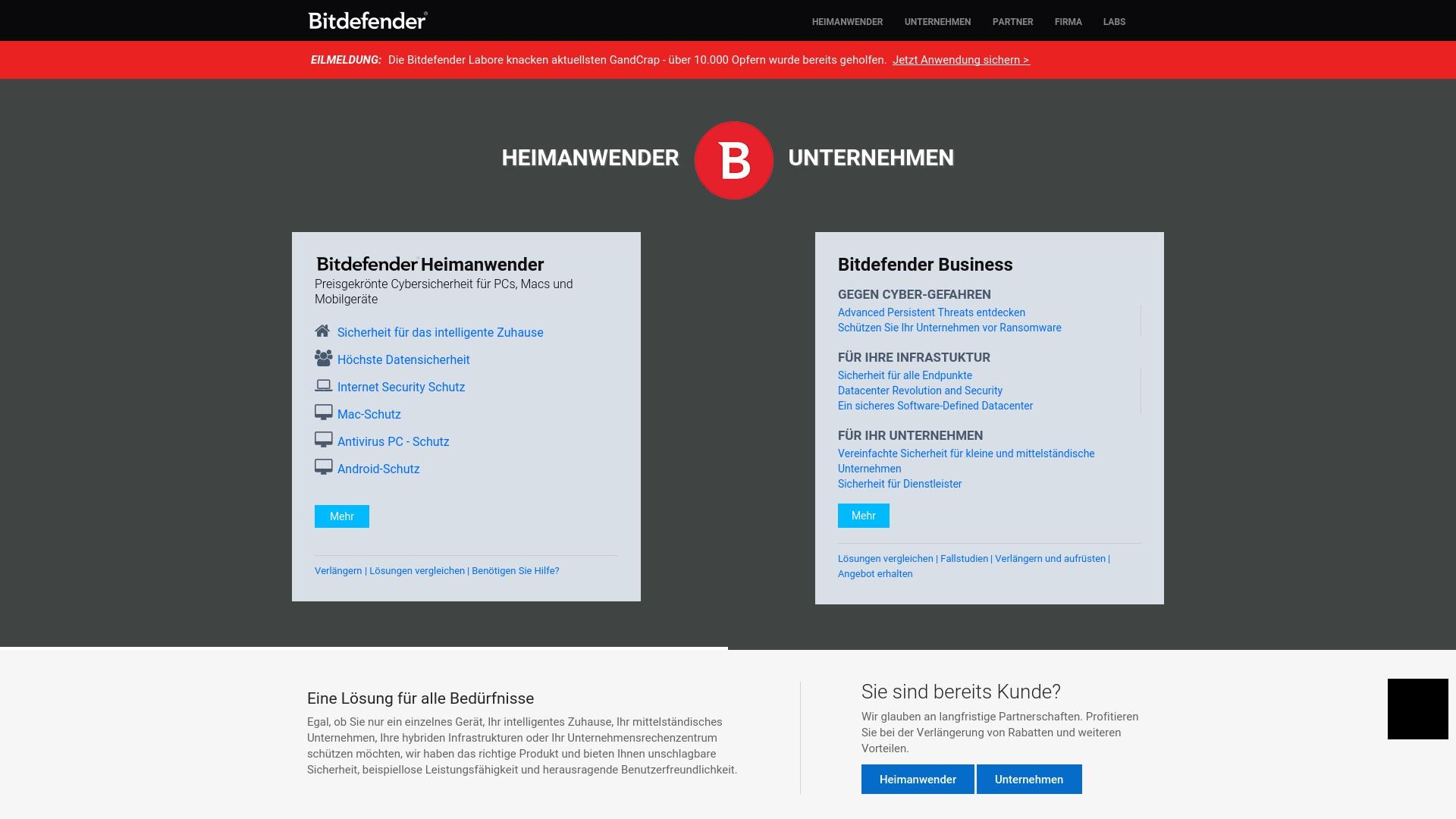 Gutschein für Bitdefender: Rabatte für  Bitdefender sichern