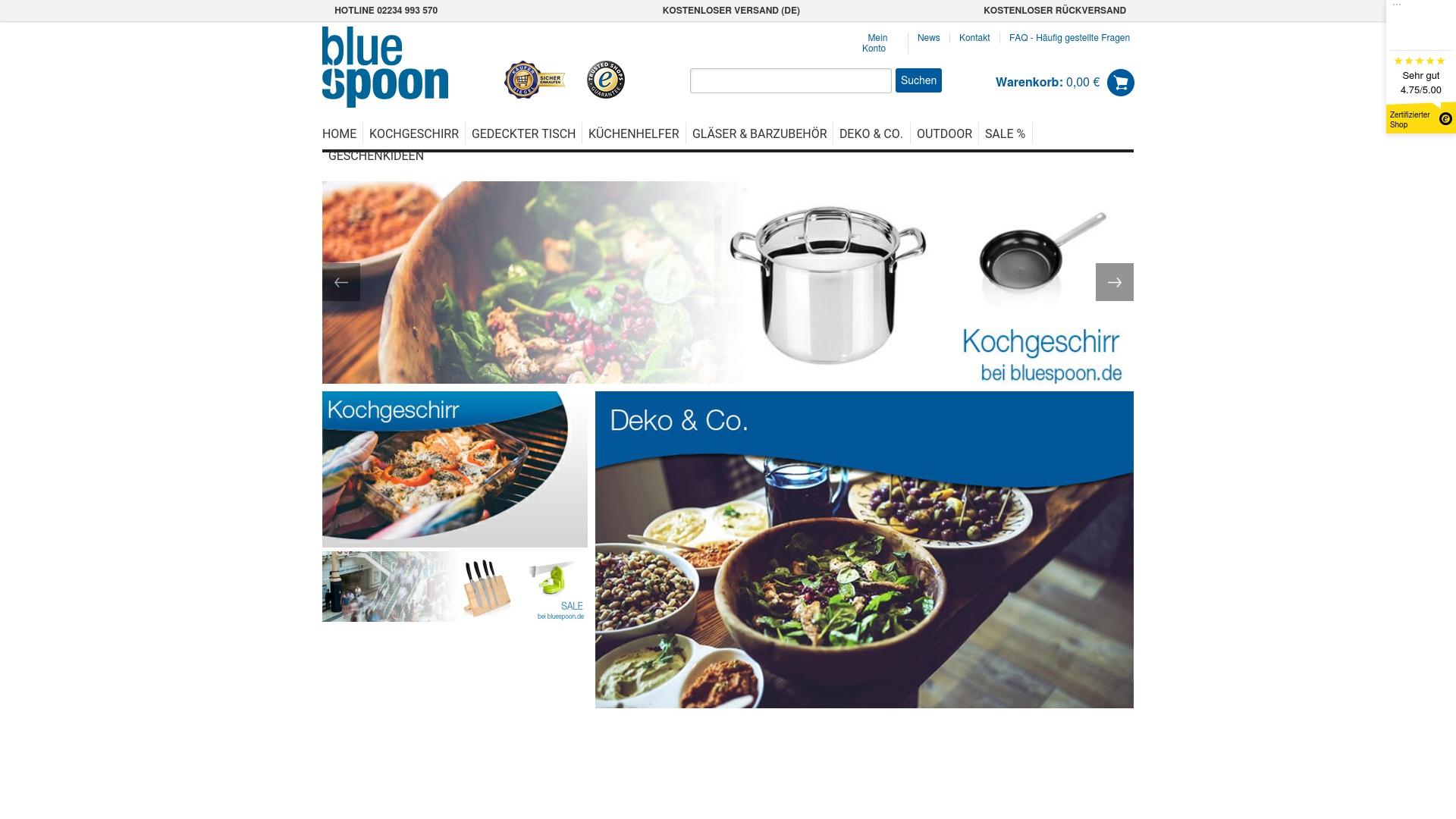 Gutschein für Bluespoon: Rabatte für  Bluespoon sichern