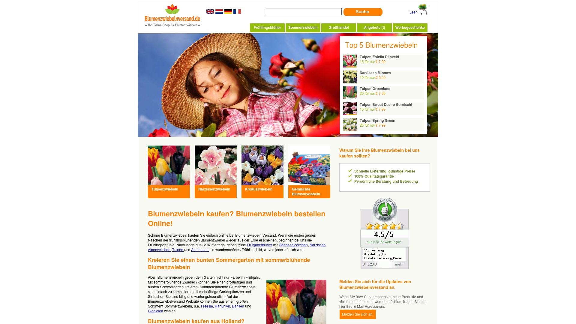 Gutschein für Blumenzwiebelnversand: Rabatte für  Blumenzwiebelnversand sichern