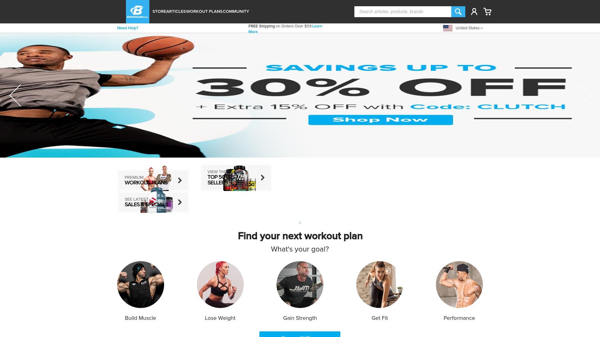 Gutschein für Bodybuilding: Rabatte für  Bodybuilding sichern