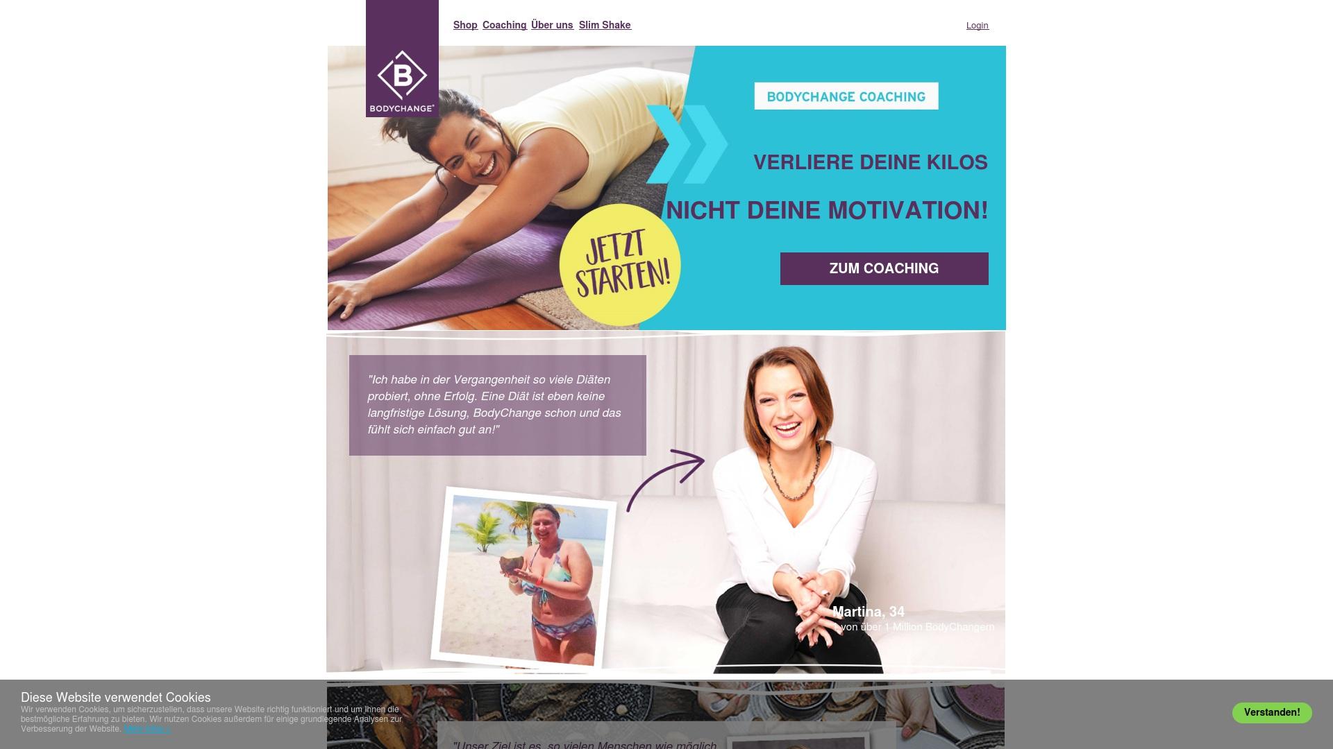 Gutschein für Bodychange: Rabatte für  Bodychange sichern