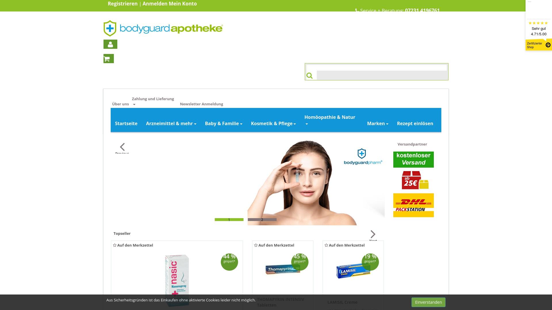Gutschein für Bodyguardapotheke: Rabatte für  Bodyguardapotheke sichern