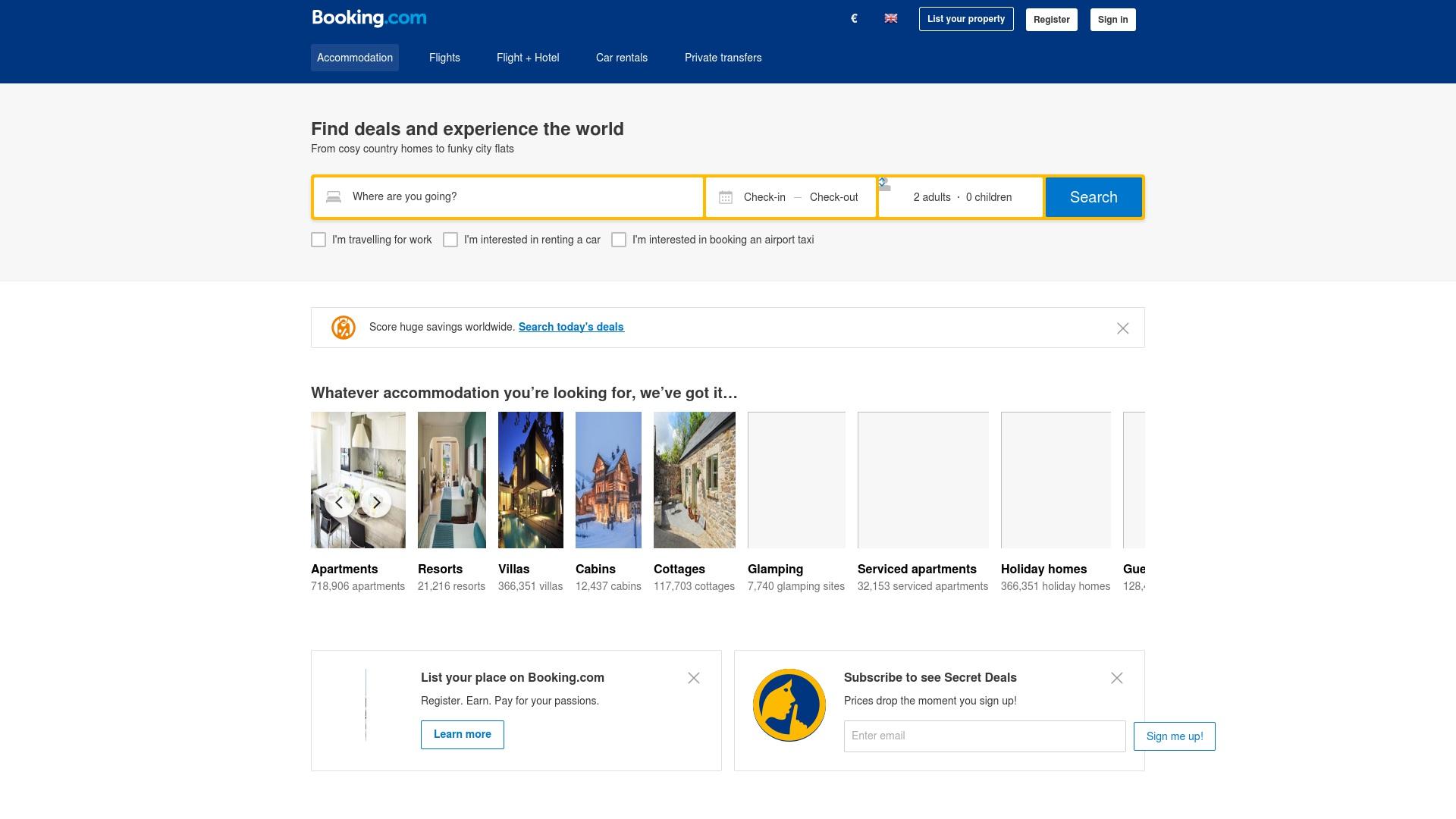 Gutschein für Booking: Rabatte für  Booking sichern