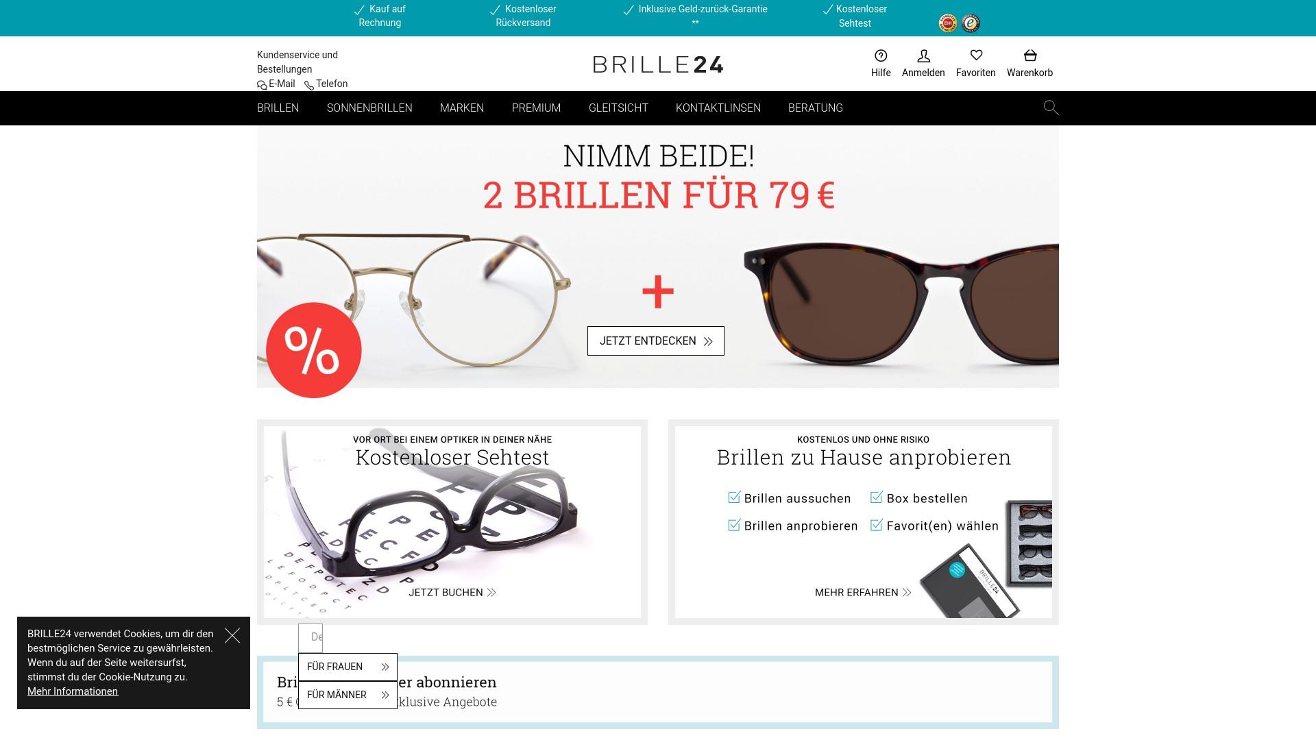 Gutschein für Brille24: Rabatte für  Brille24 sichern