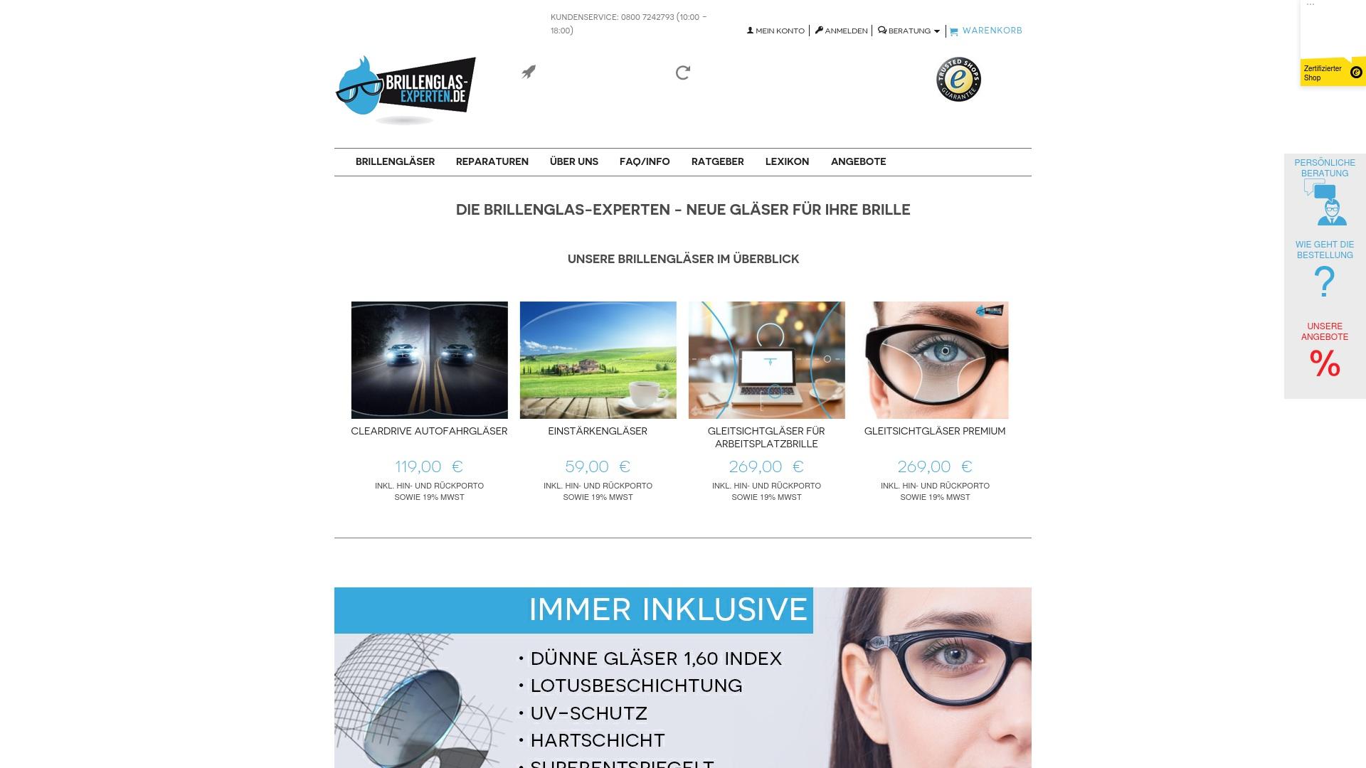 Gutschein für Brillenglas-experten: Rabatte für  Brillenglas-experten sichern