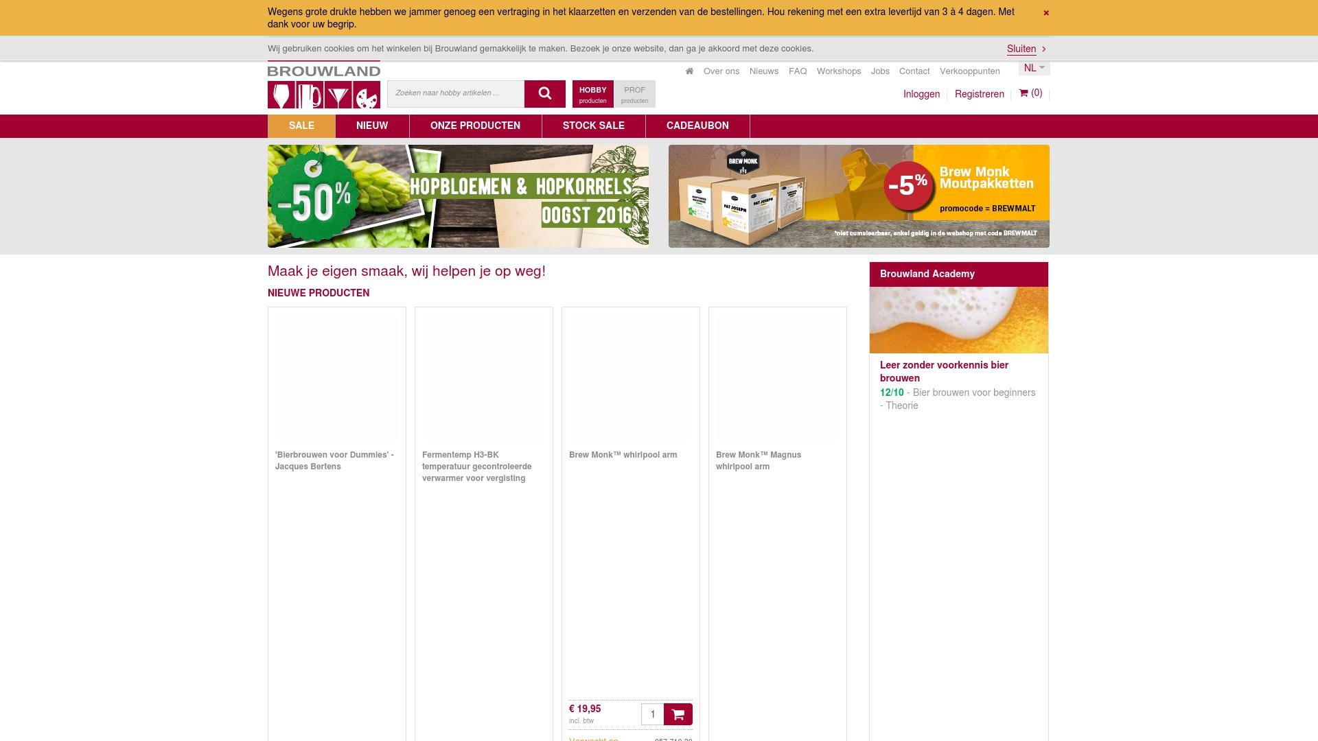 Gutschein für Brouwland: Rabatte für  Brouwland sichern