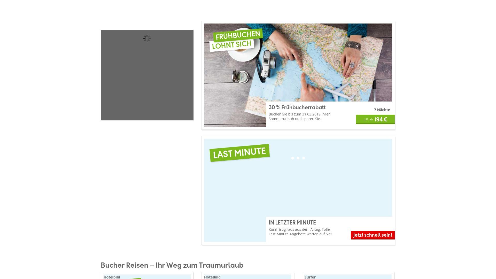 Gutschein für Bucher-reisen: Rabatte für  Bucher-reisen sichern