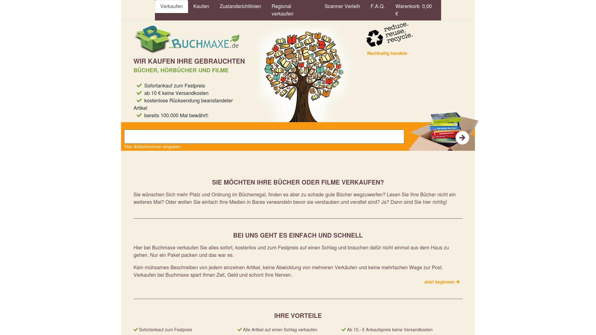 Gutschein für Buchmaxe: Rabatte für  Buchmaxe sichern
