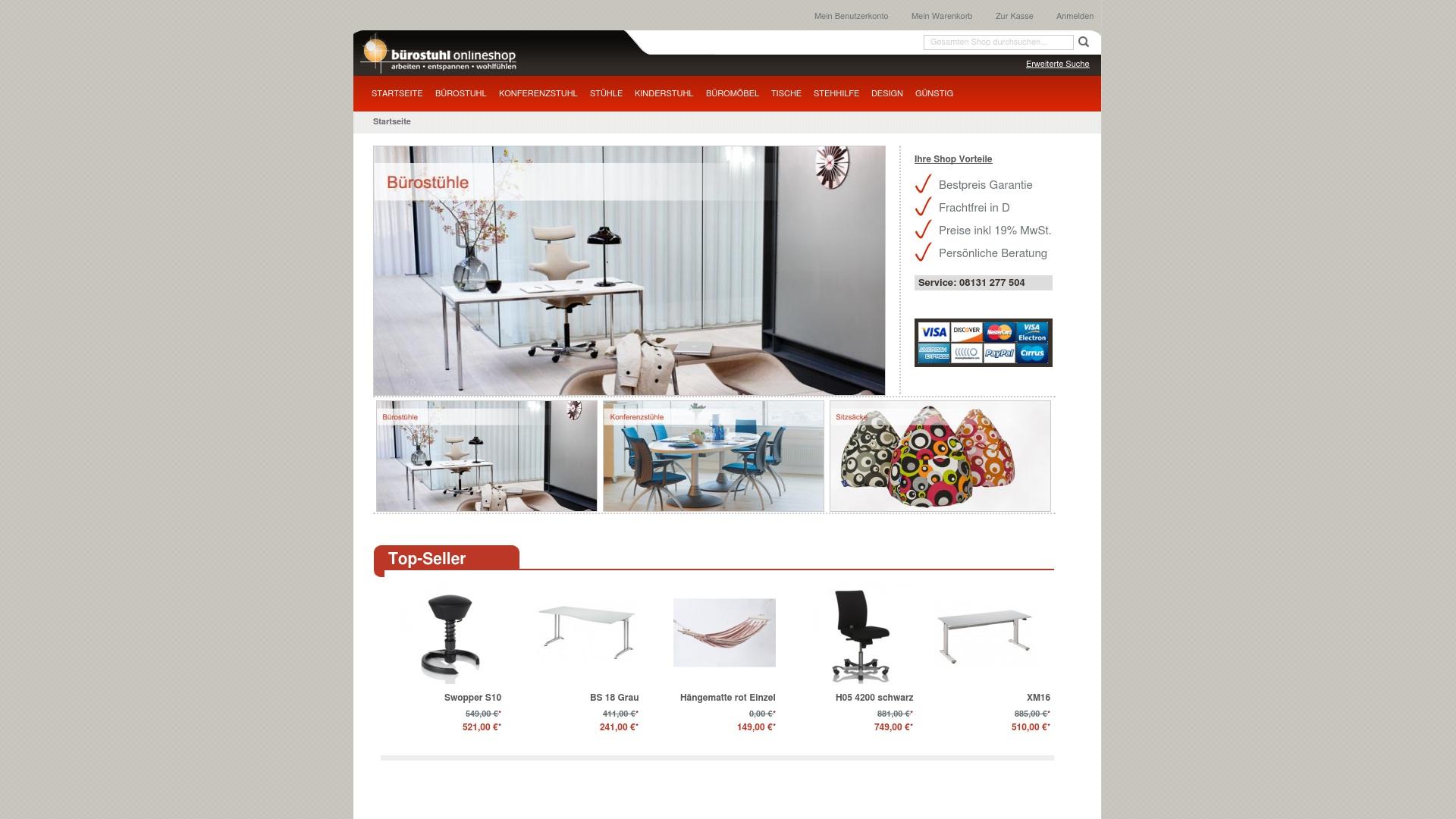 Gutschein für Buerostuhl-onlineshop: Rabatte für  Buerostuhl-onlineshop sichern
