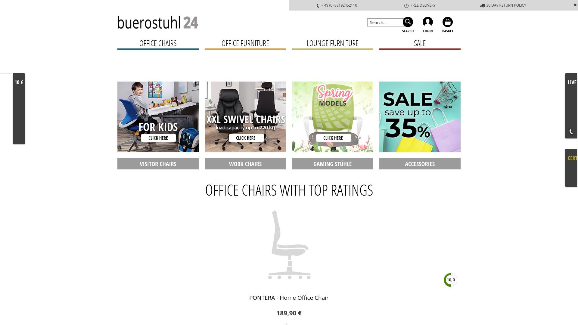 Gutschein für Buerostuhl24: Rabatte für  Buerostuhl24 sichern
