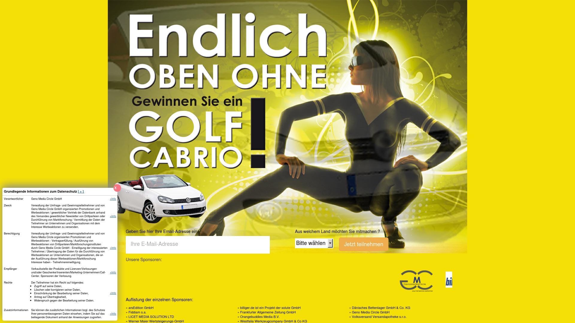 Gutschein für Cabrio-gewinnen: Rabatte für  Cabrio-gewinnen sichern