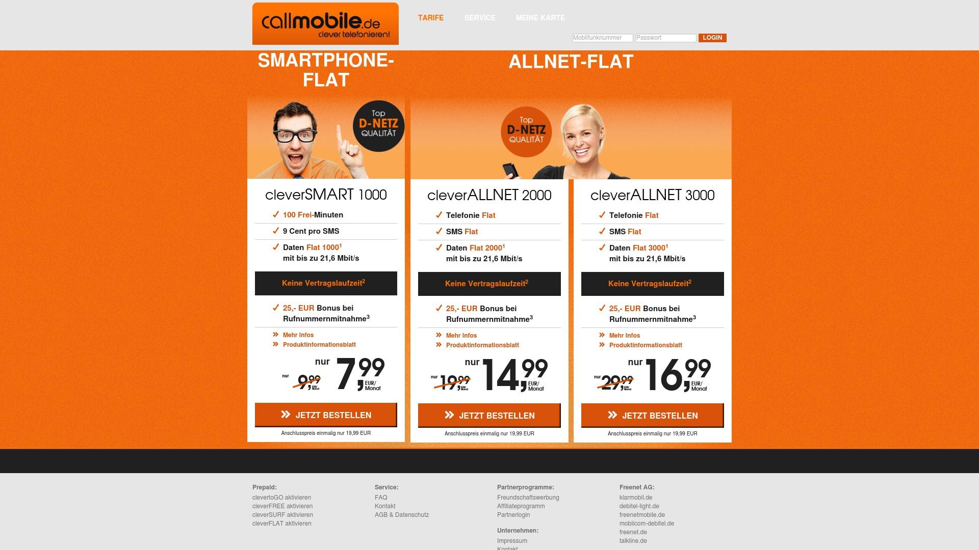 Gutschein für Callmobile: Rabatte für  Callmobile sichern
