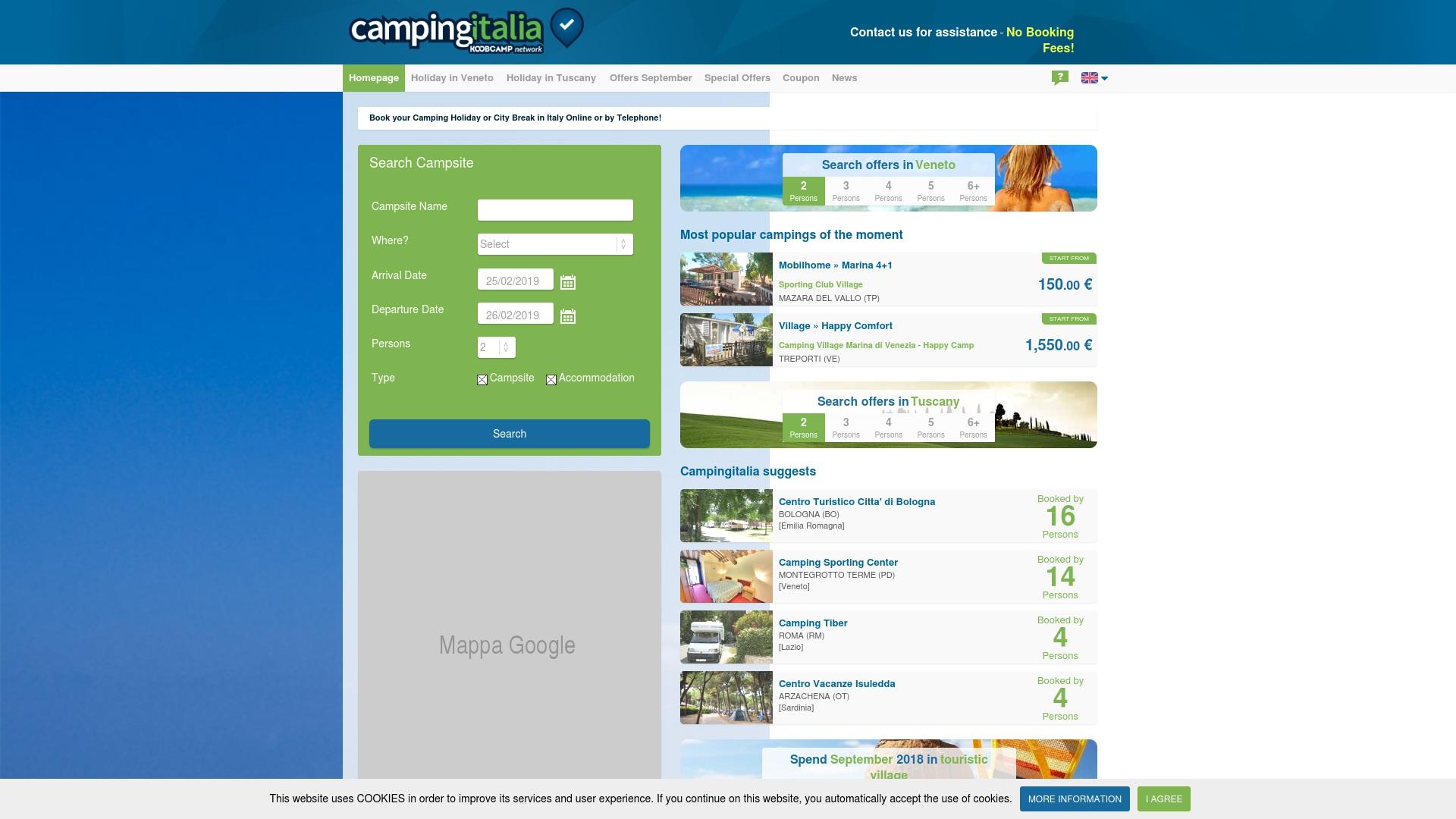 Gutschein für Campingitalia: Rabatte für  Campingitalia sichern