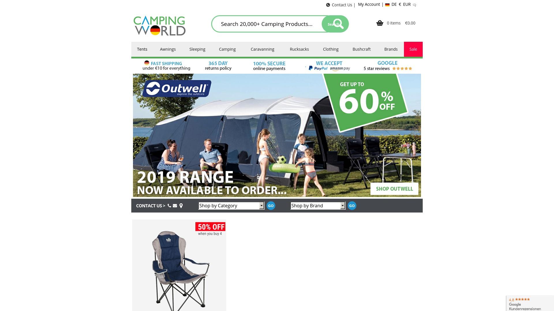 Gutschein für Campingworld: Rabatte für  Campingworld sichern