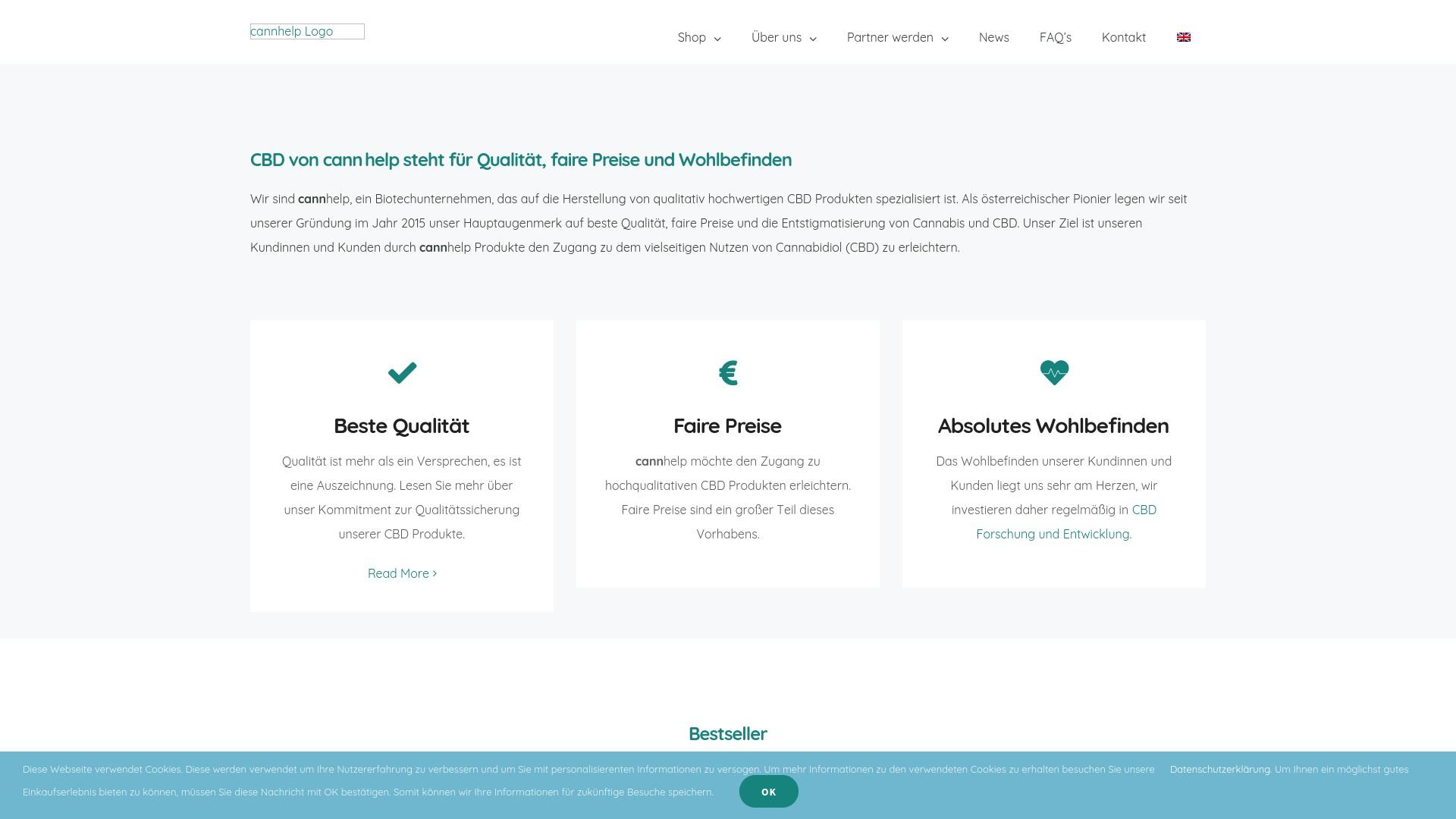 Gutschein für Cannhelp: Rabatte für  Cannhelp sichern