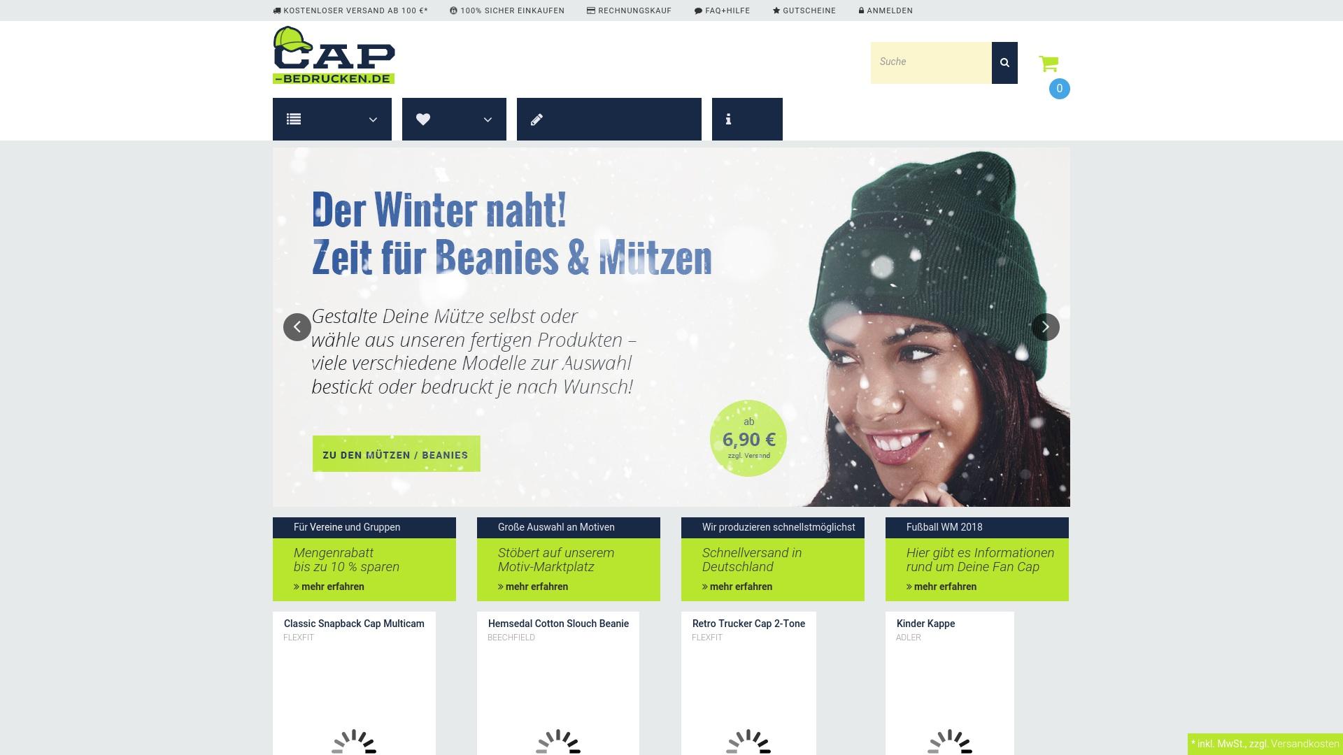 Gutschein für Cap-bedrucken: Rabatte für  Cap-bedrucken sichern
