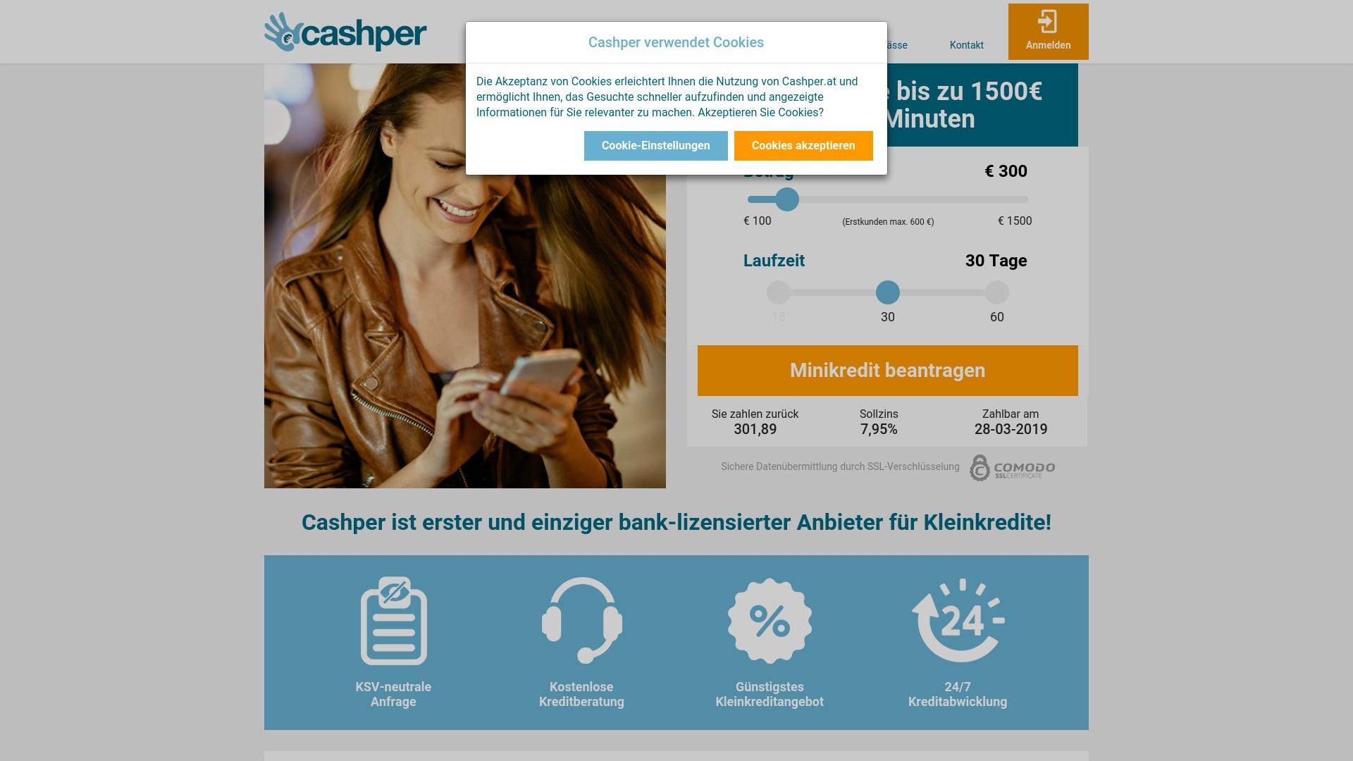 Gutschein für Cashper: Rabatte für  Cashper sichern