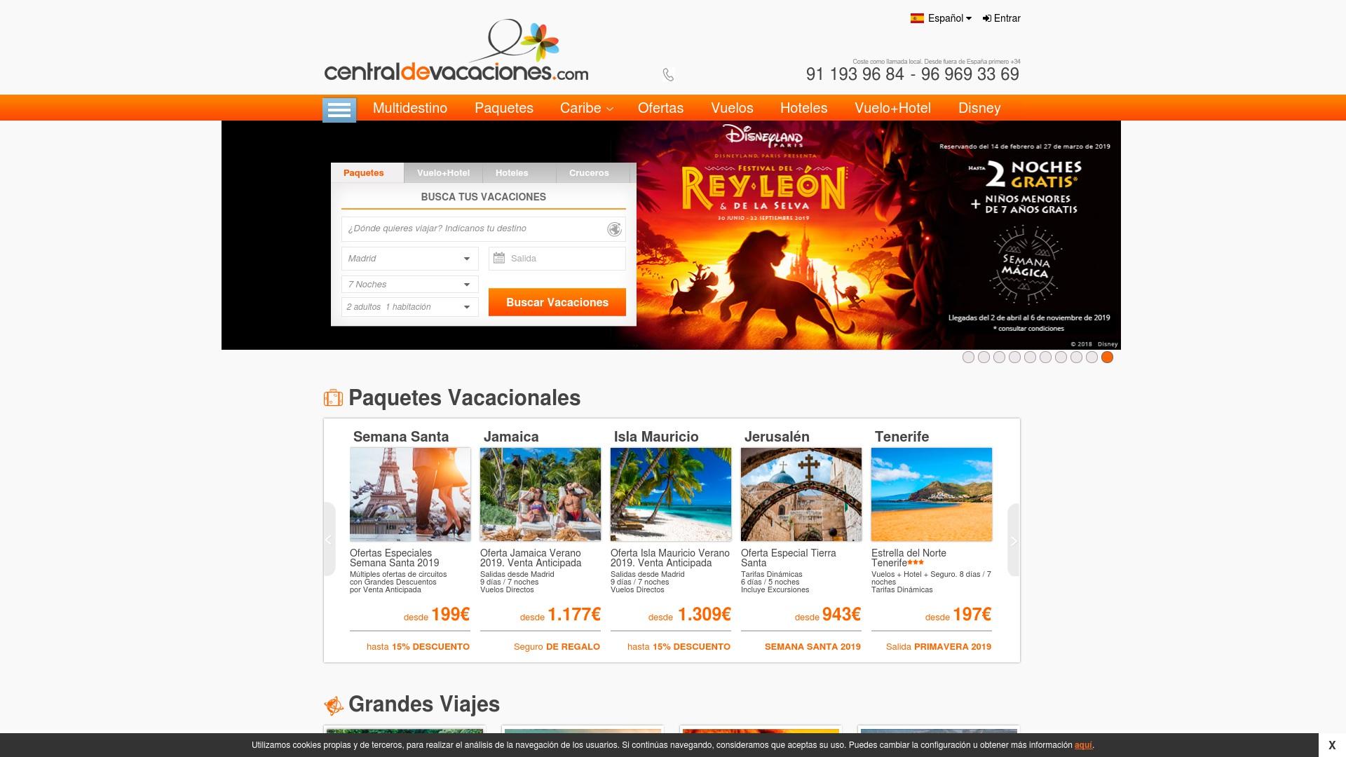 Gutschein für Centraldevacaciones: Rabatte für  Centraldevacaciones sichern